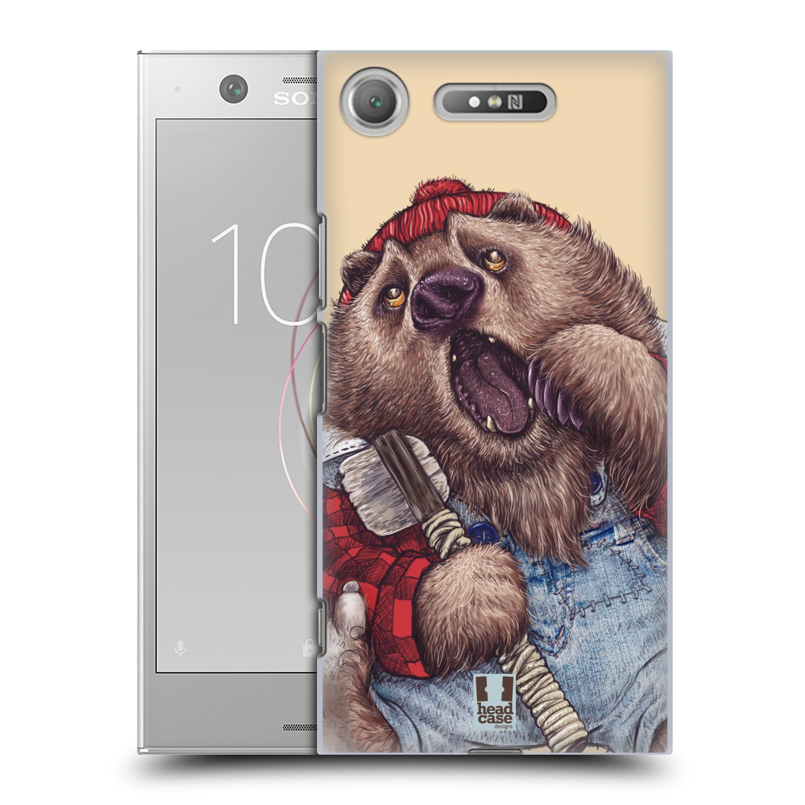 HEAD CASE plastový obal na mobil Sony Xperia XZ1 vzor Kreslená zvířátka medvěd