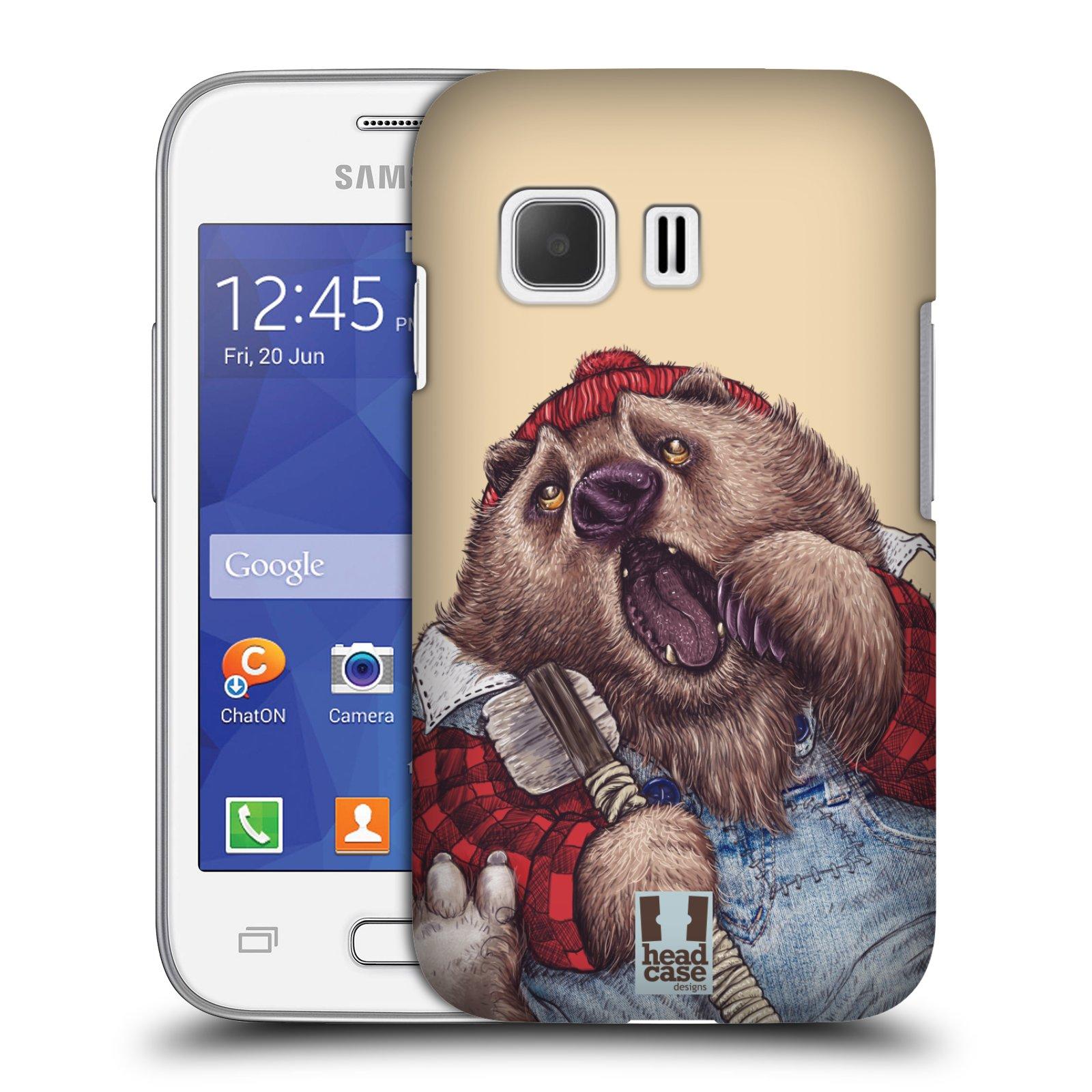 HEAD CASE plastový obal na mobil SAMSUNG Galaxy Young 2 (G130) vzor Kreslená zvířátka medvěd