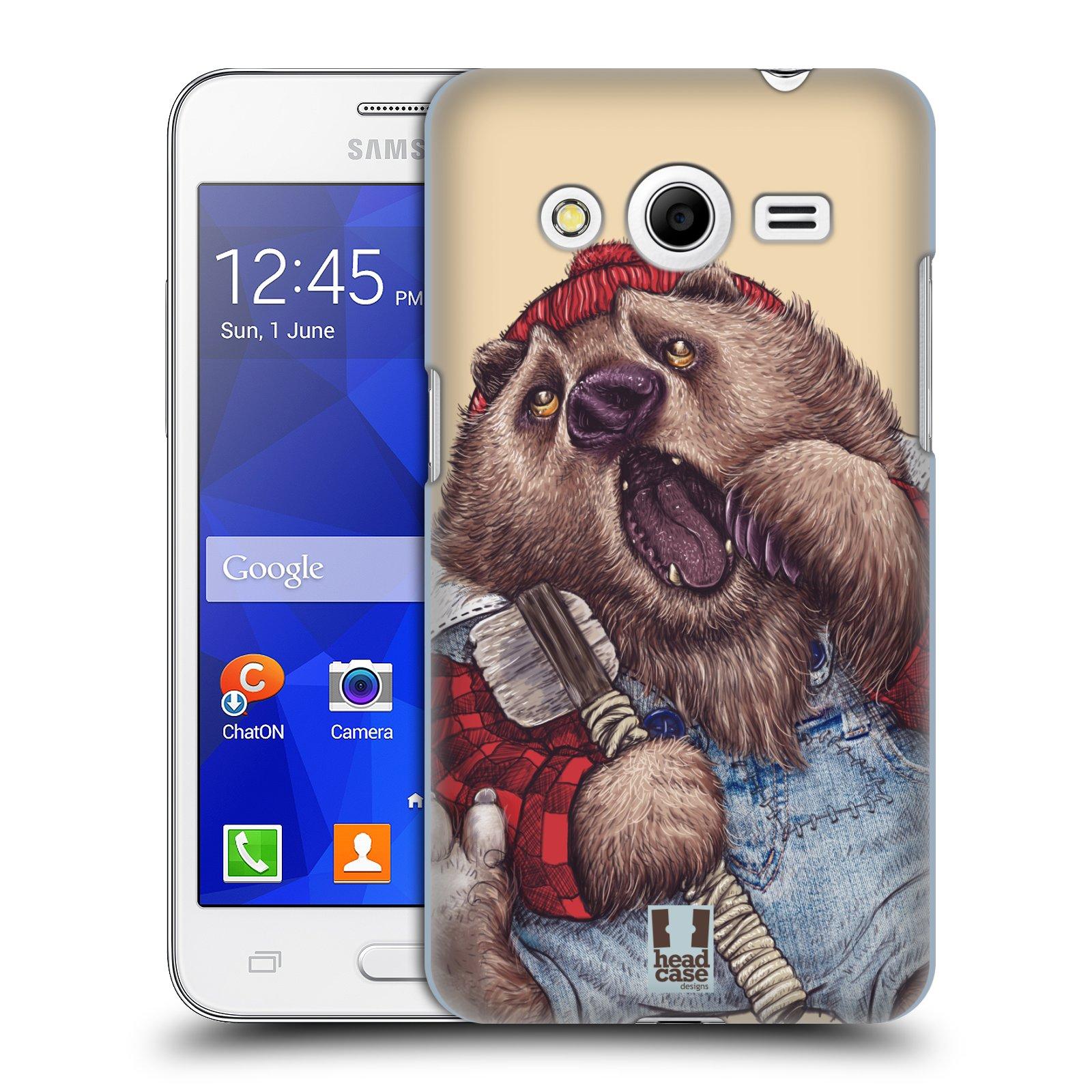 HEAD CASE plastový obal na mobil SAMSUNG GALAXY Core 2 (G355H) vzor Kreslená zvířátka medvěd