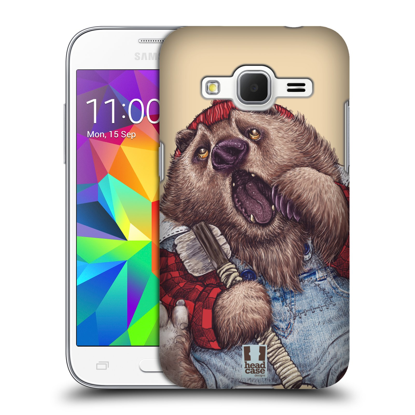 HEAD CASE plastový obal na mobil SAMSUNG GALAXY Core Prime (Core Prime VE) vzor Kreslená zvířátka medvěd