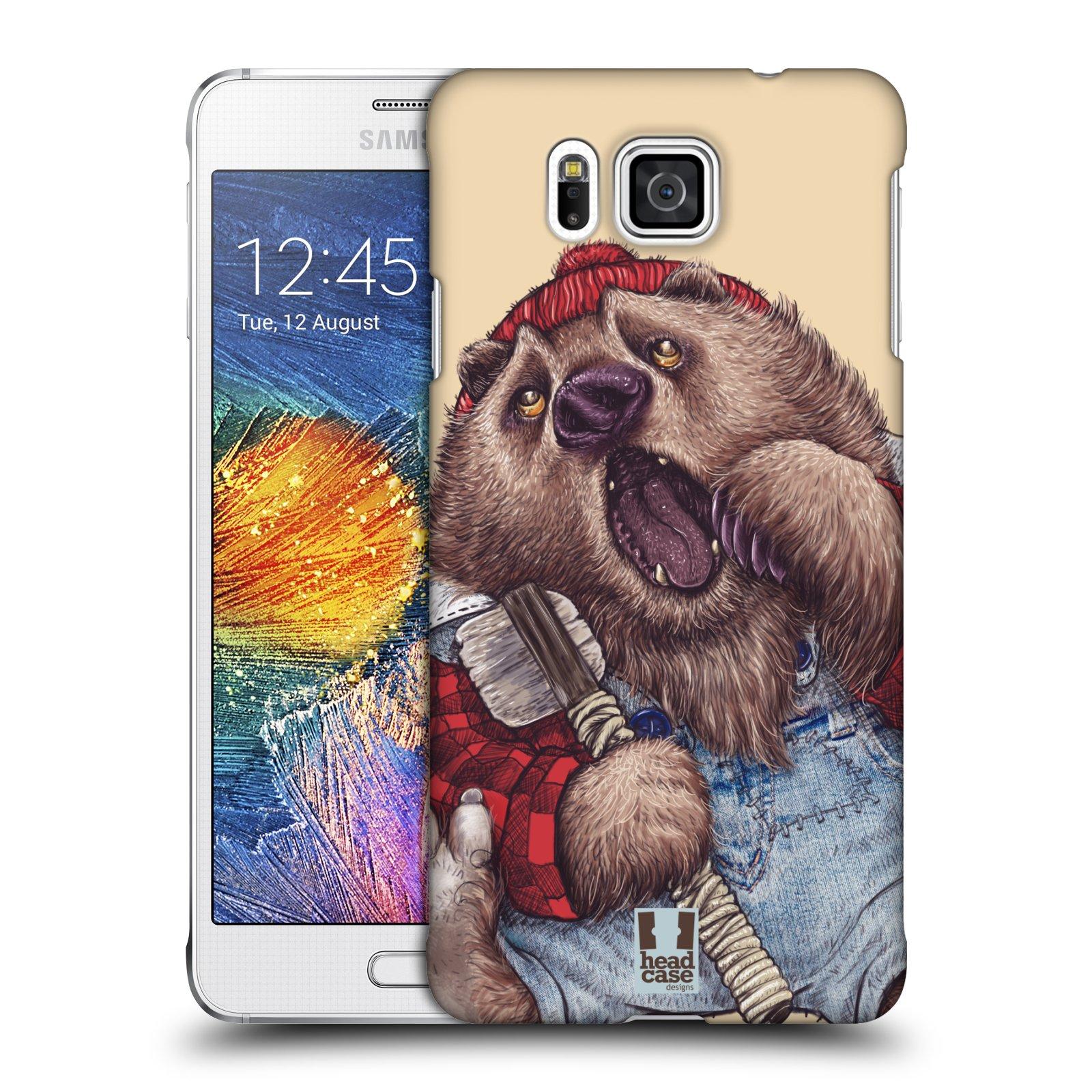 HEAD CASE plastový obal na mobil SAMSUNG Galaxy Alpha (G850) vzor Kreslená zvířátka medvěd