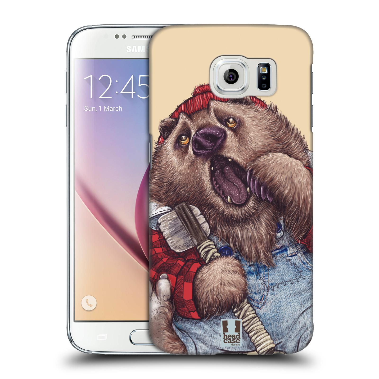 HEAD CASE plastový obal na mobil SAMSUNG Galaxy S6 (G9200, G920F) vzor Kreslená zvířátka medvěd