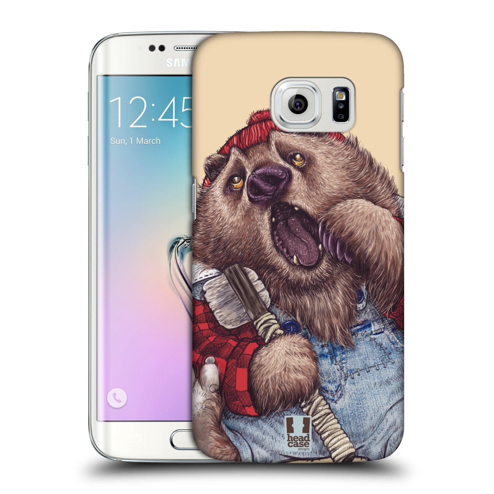 HEAD CASE plastový obal na mobil SAMSUNG Galaxy S6 EDGE (G9250, G925, G925F) vzor Kreslená zvířátka medvěd