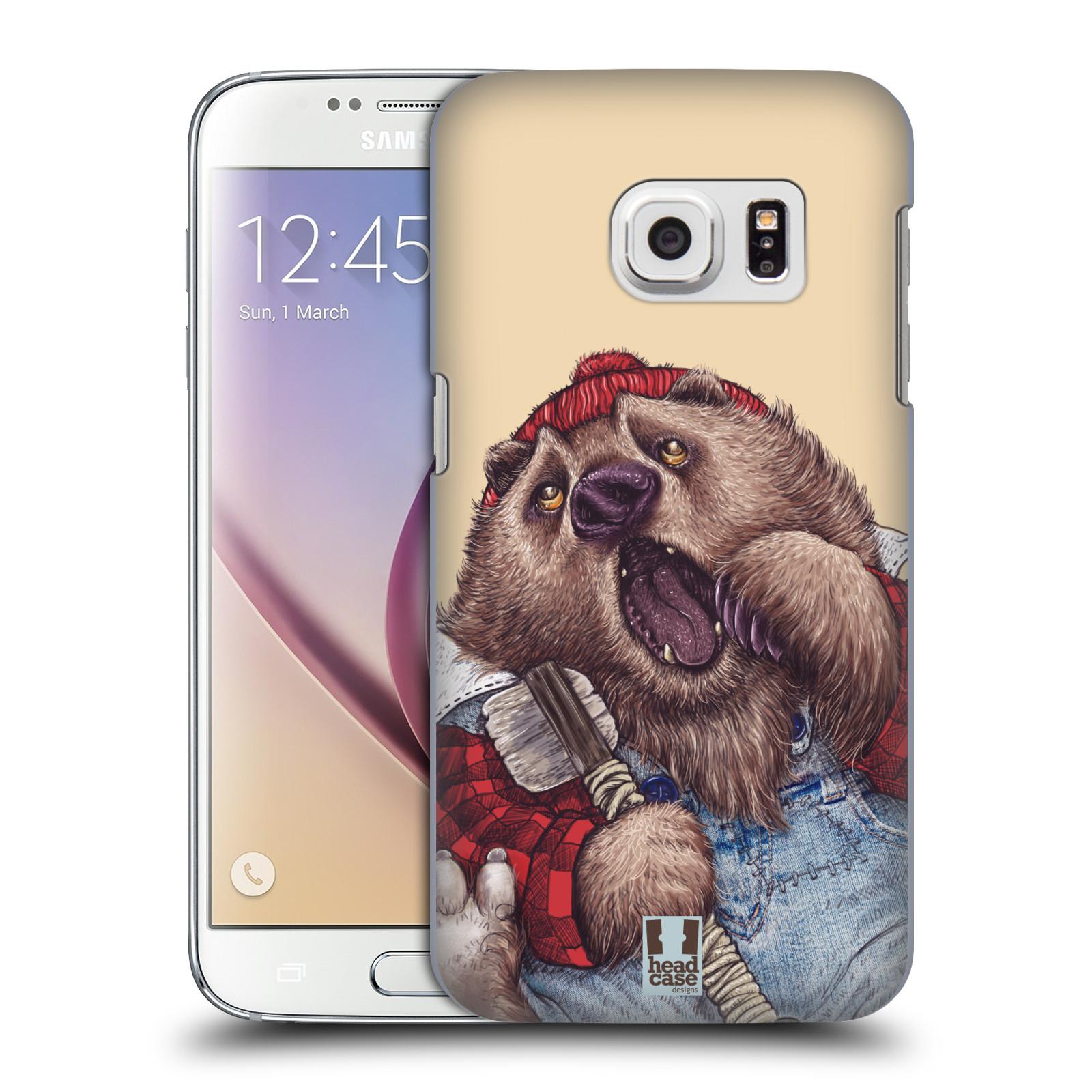 HEAD CASE plastový obal na mobil SAMSUNG GALAXY S7 vzor Kreslená zvířátka medvěd