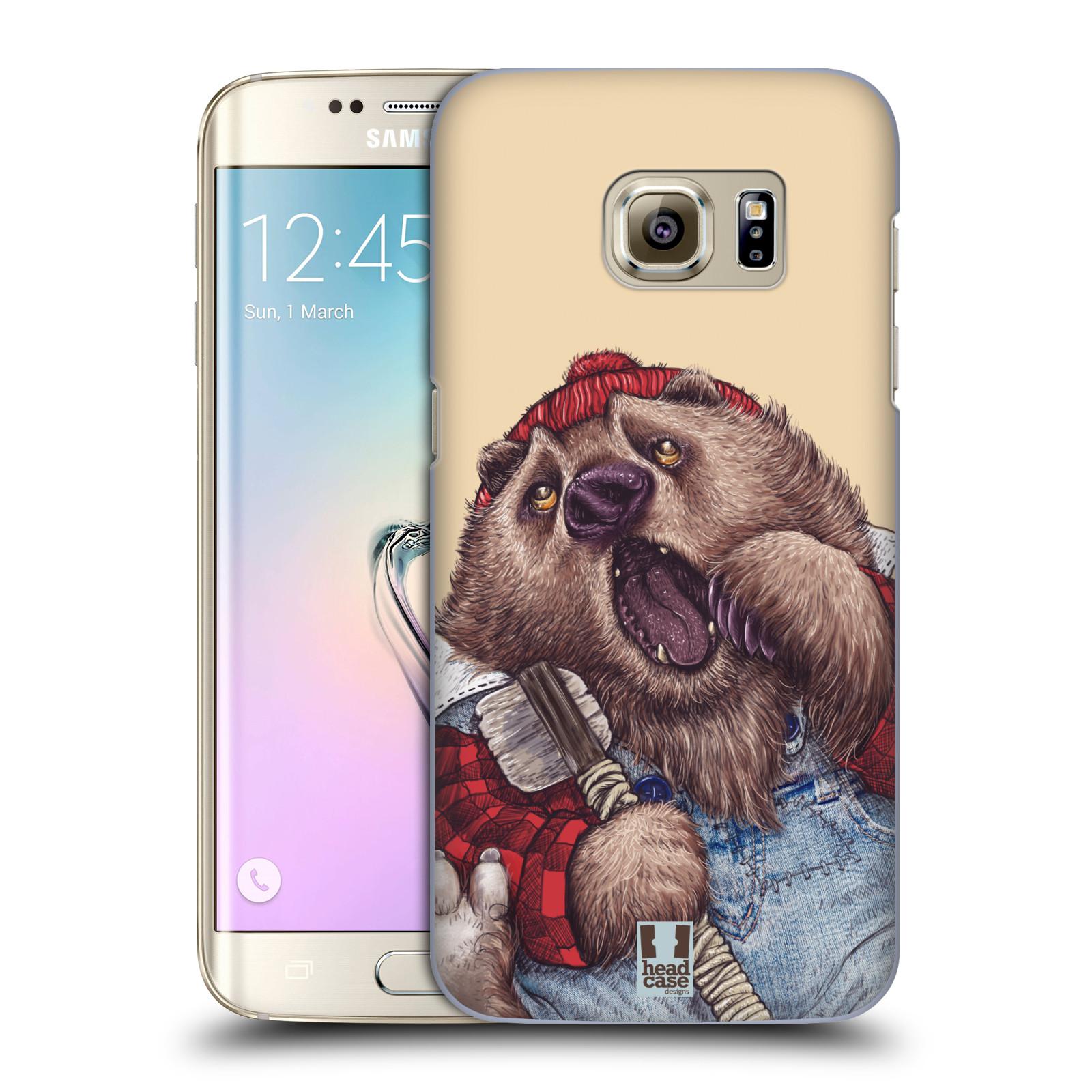 HEAD CASE plastový obal na mobil SAMSUNG GALAXY S7 EDGE vzor Kreslená zvířátka medvěd