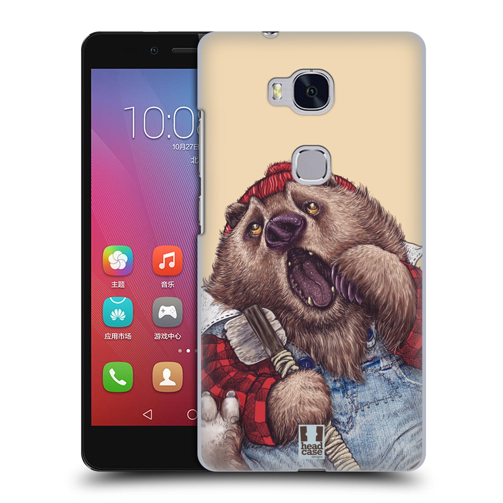 HEAD CASE pevný plastový obal na mobil HUAWEI HONOR 5X vzor Kreslená zvířátka medvěd