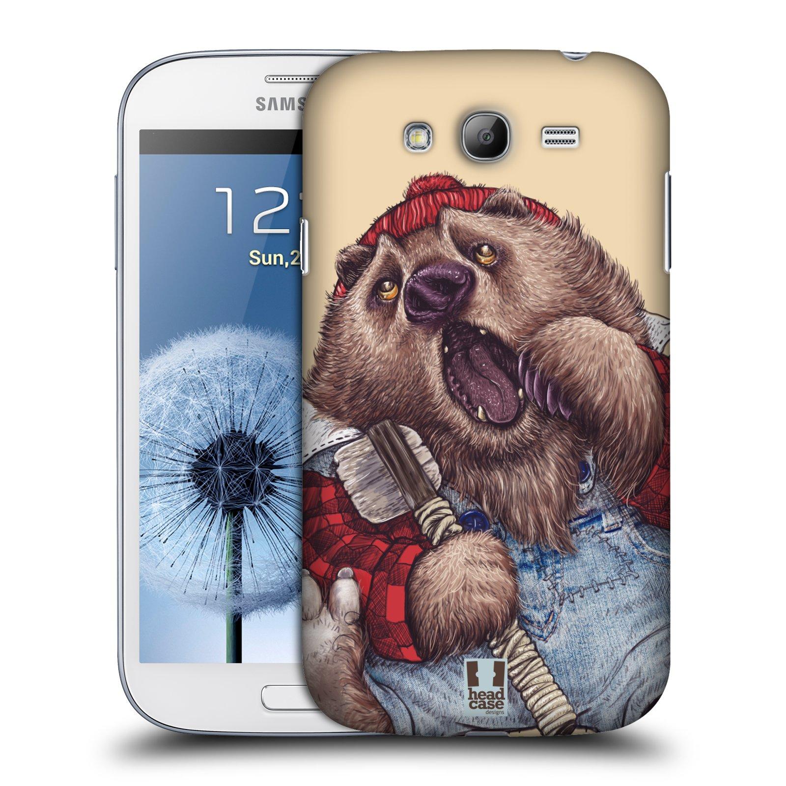 HEAD CASE plastový obal na mobil SAMSUNG GALAXY Grand i9080 vzor Kreslená zvířátka medvěd