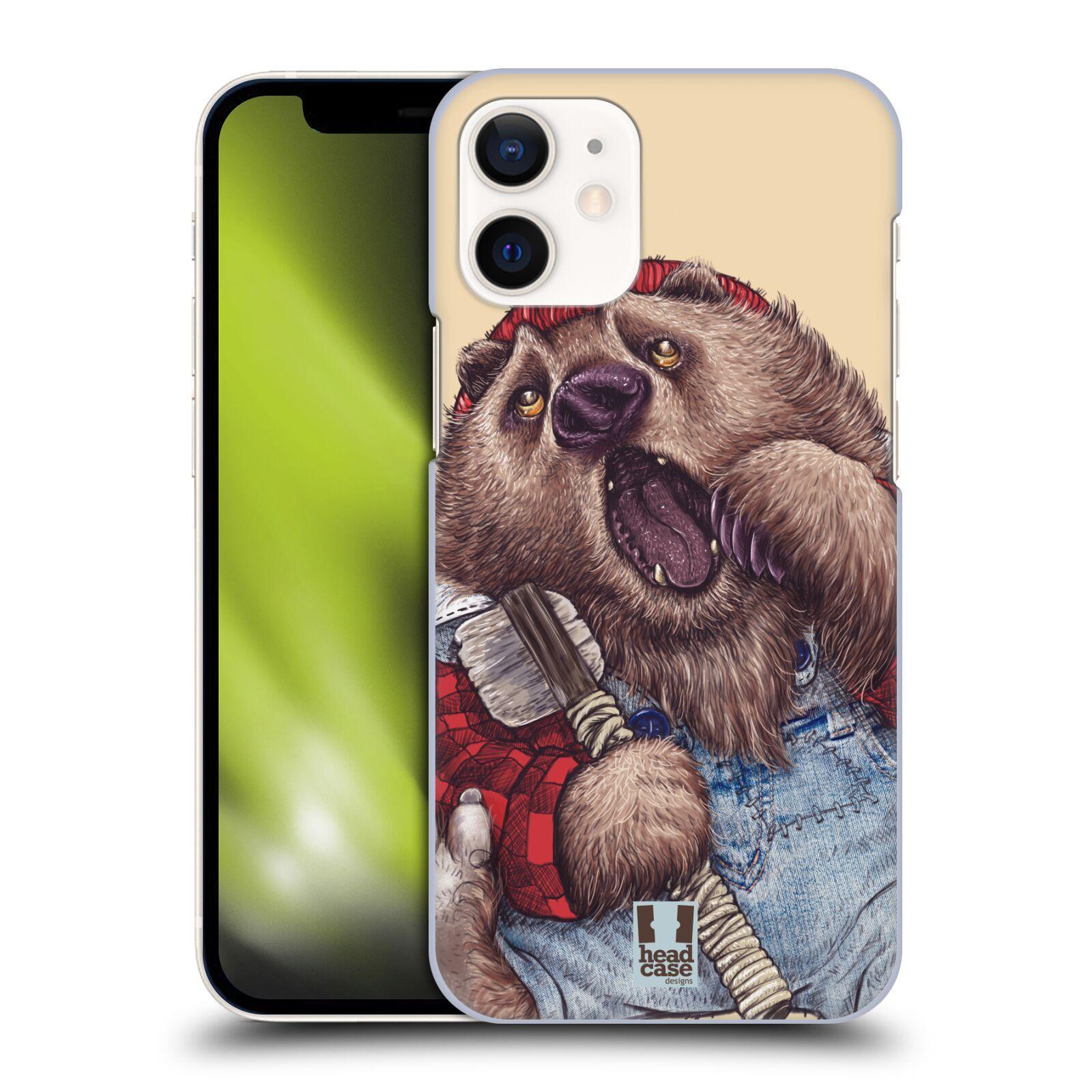 Plastový obal na mobil Apple Iphone 12 MINI vzor Kreslená zvířátka medvěd