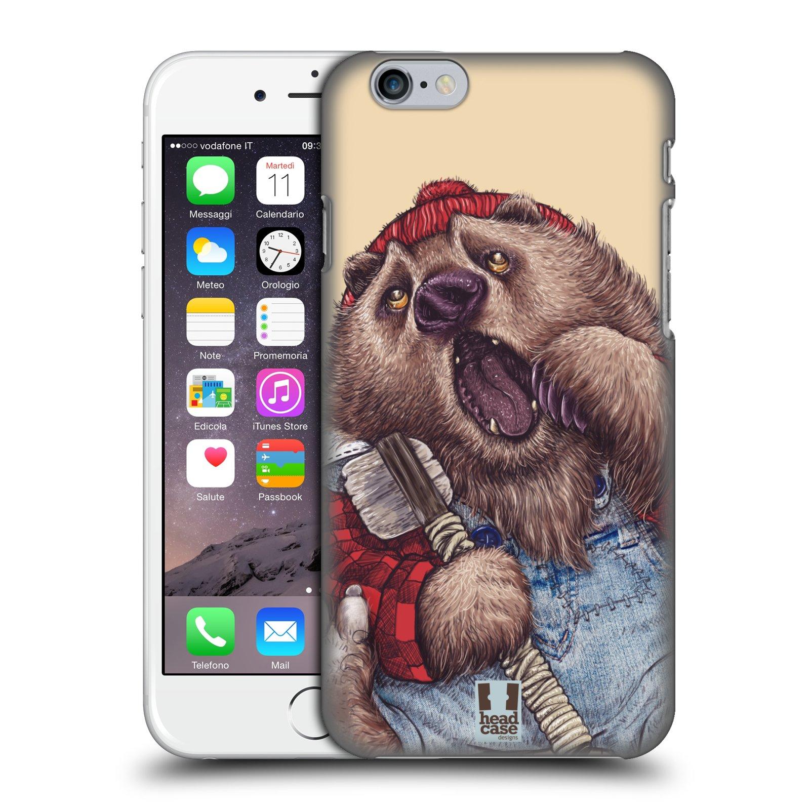 Plastové pouzdro pro mobil Apple Iphone 6/6S vzor Kreslená zvířátka medvěd