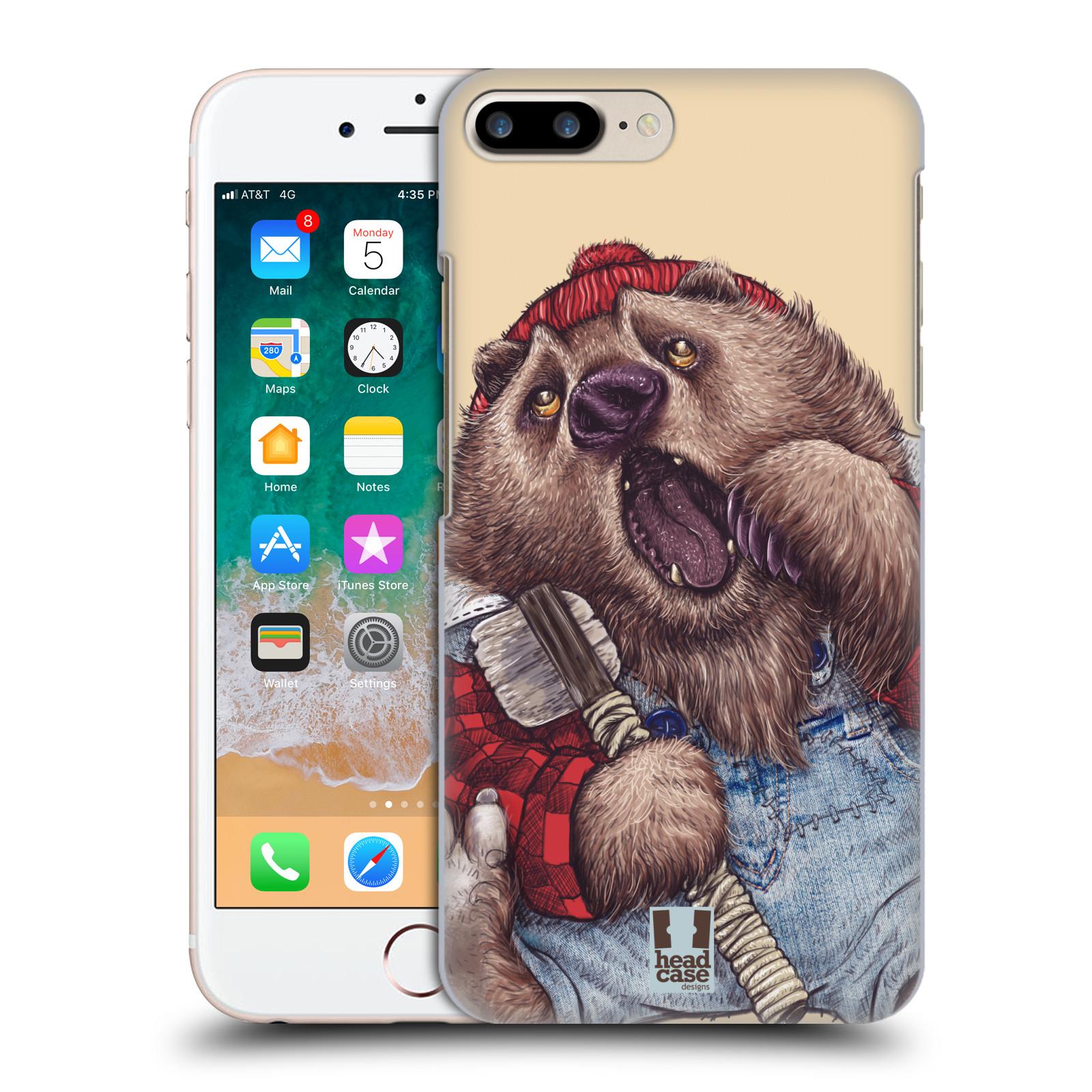 HEAD CASE plastový obal na mobil Apple Iphone 7 PLUS vzor Kreslená zvířátka medvěd