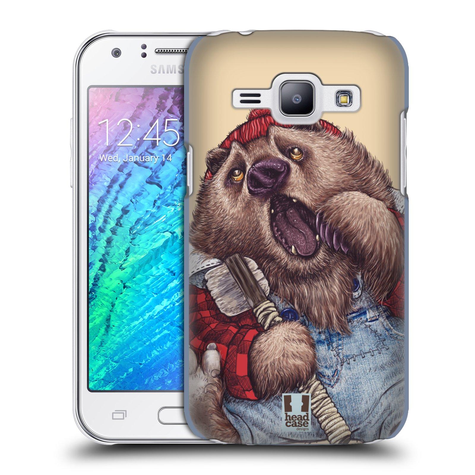 HEAD CASE plastový obal na mobil SAMSUNG Galaxy J1, J100 vzor Kreslená zvířátka medvěd