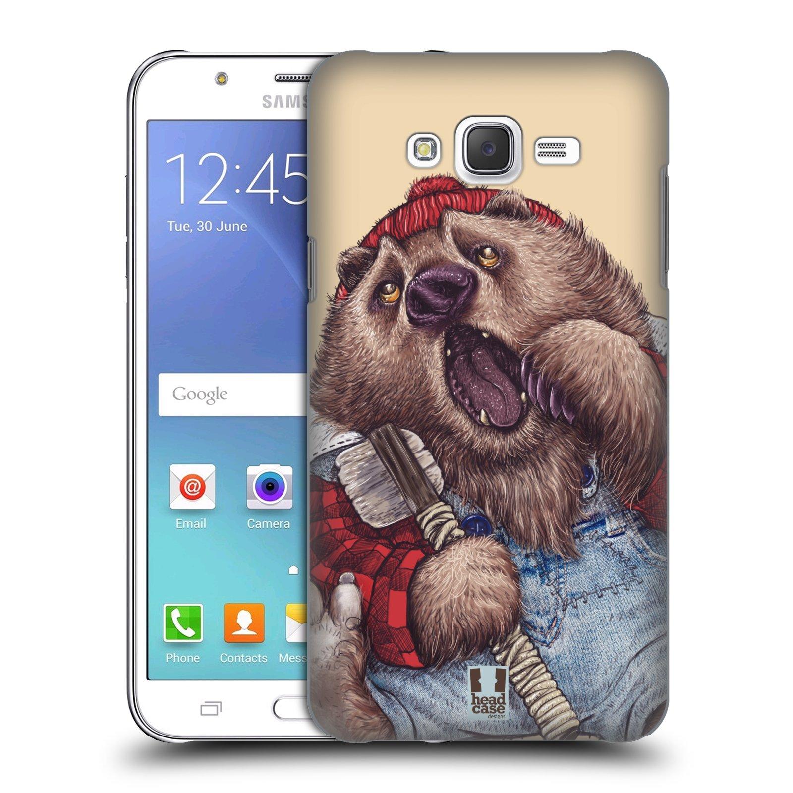 HEAD CASE plastový obal na mobil SAMSUNG Galaxy J7, J700 vzor Kreslená zvířátka medvěd