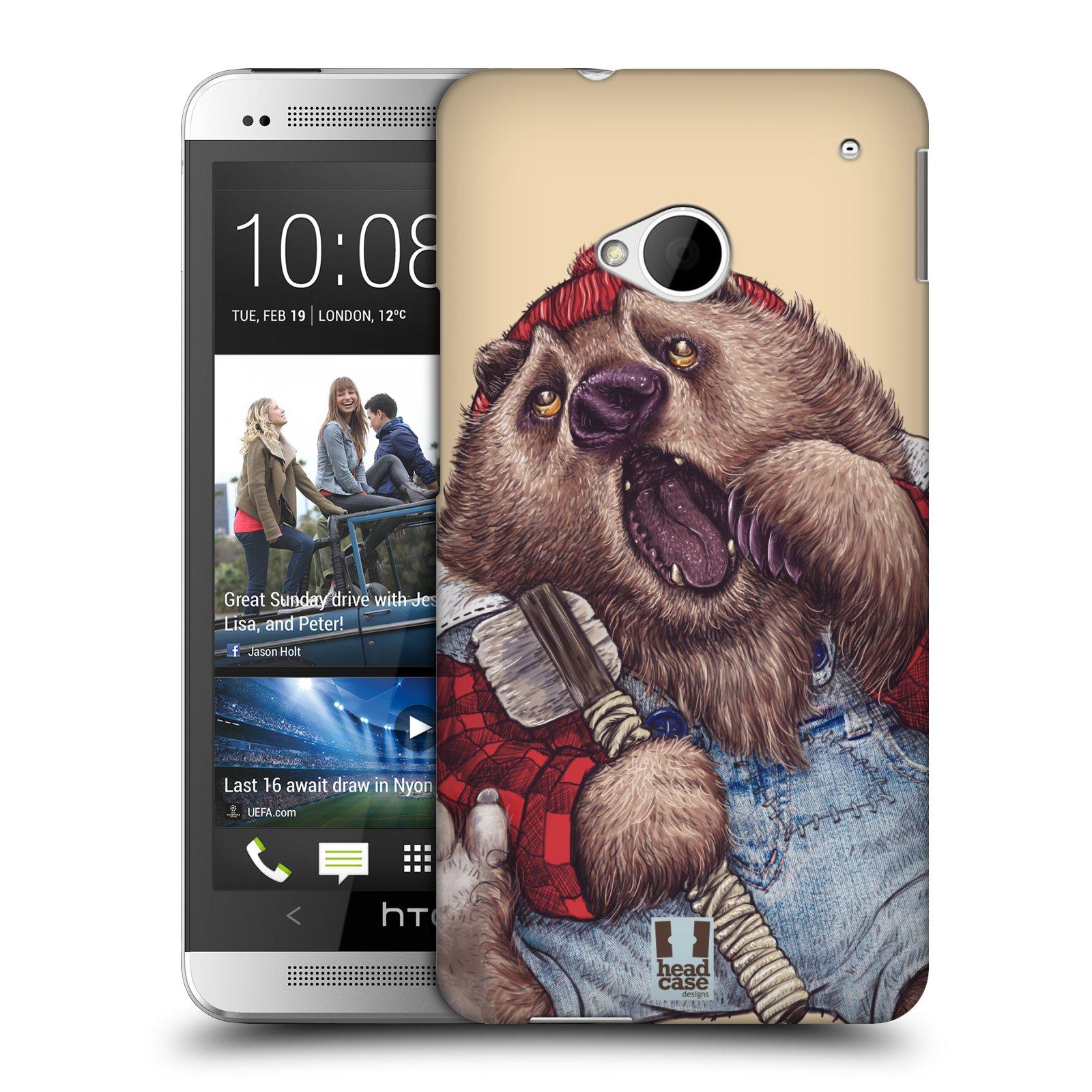HEAD CASE plastový obal na mobil HTC One (M7) vzor Kreslená zvířátka medvěd