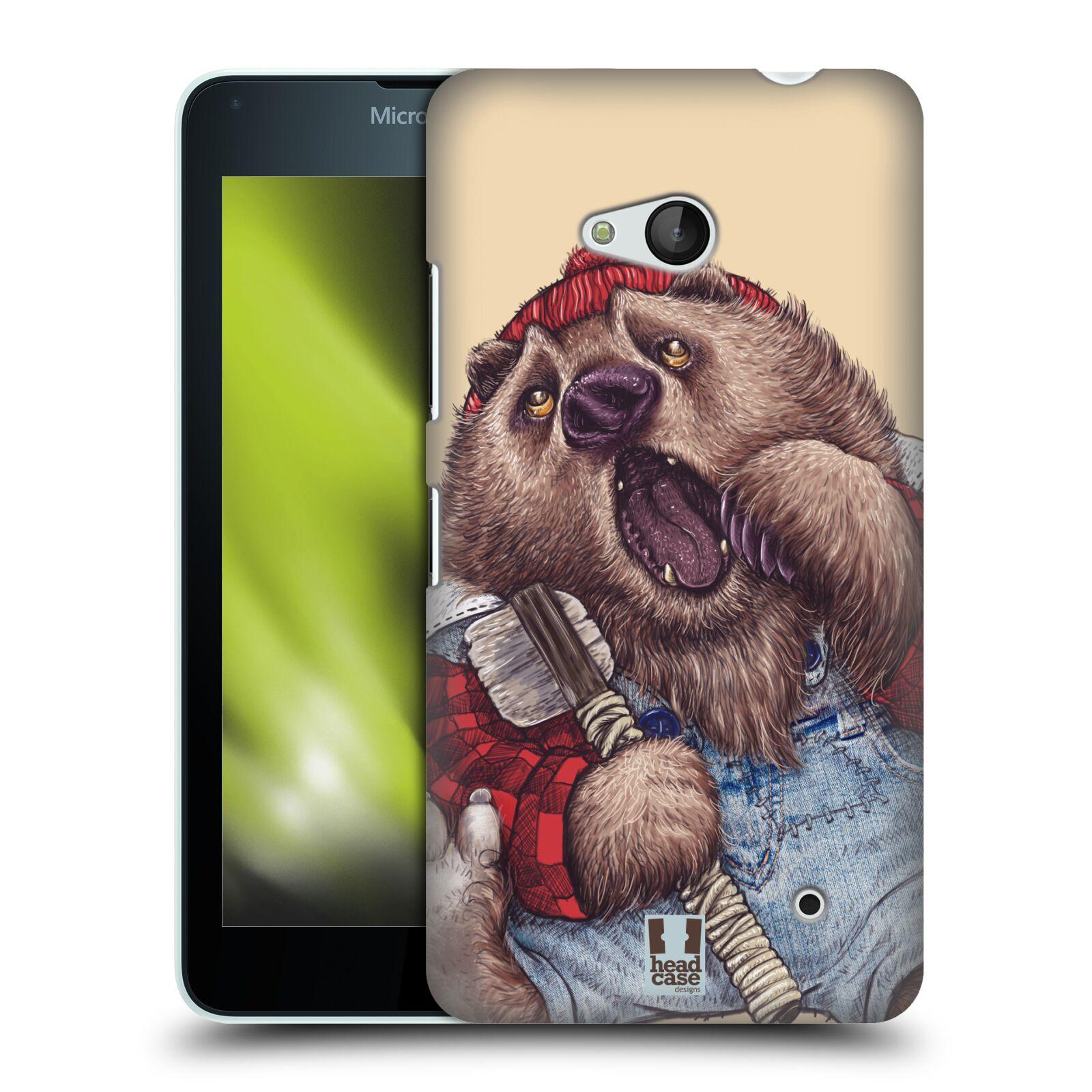 HEAD CASE plastový obal na mobil Nokia Lumia 640 vzor Kreslená zvířátka medvěd