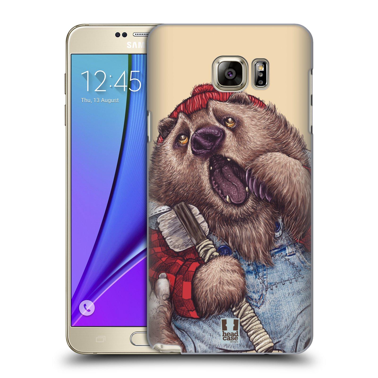 HEAD CASE plastový obal na mobil SAMSUNG Galaxy Note 5 (N920) vzor Kreslená zvířátka medvěd