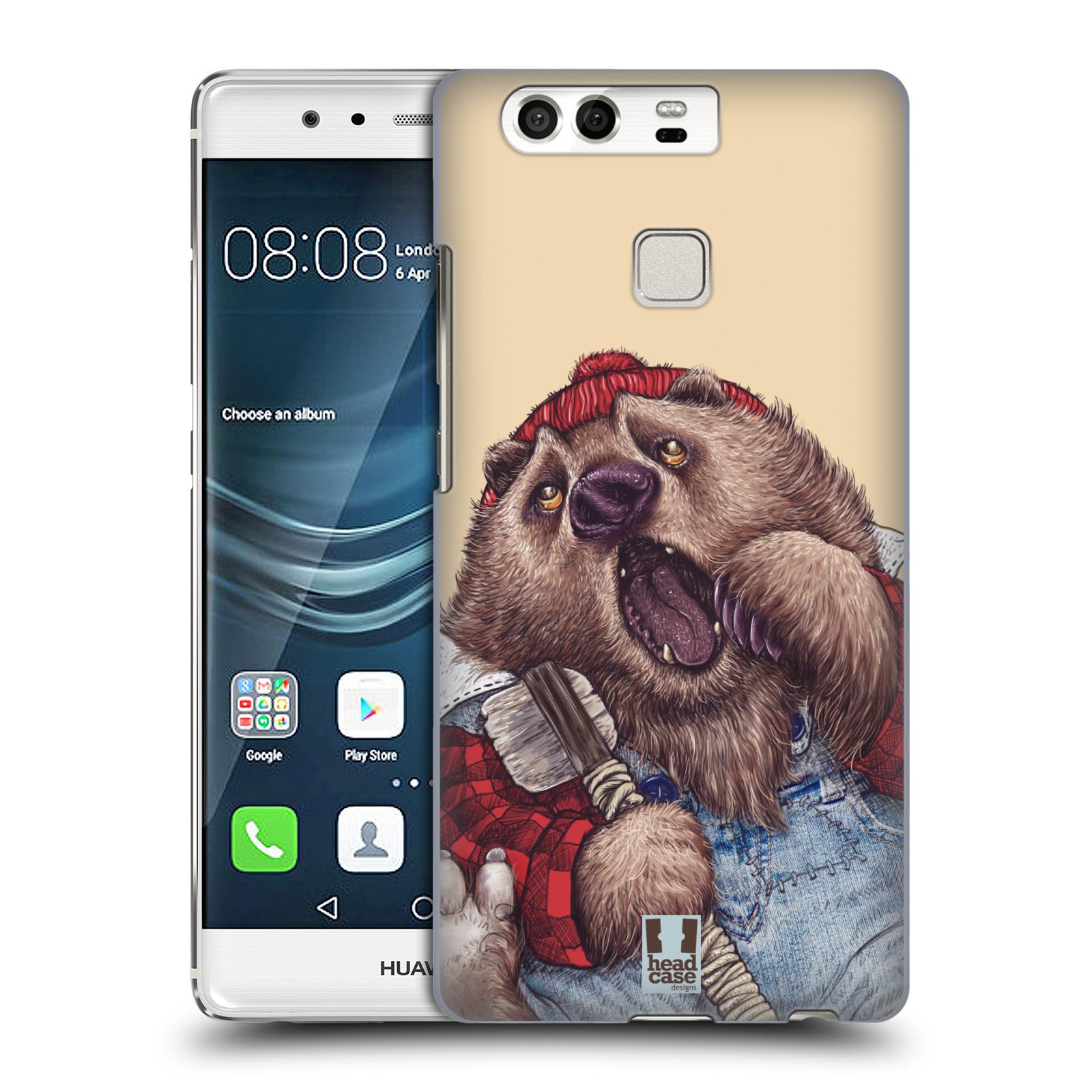 HEAD CASE plastový obal na mobil Huawei P9 / P9 DUAL SIM vzor Kreslená zvířátka medvěd