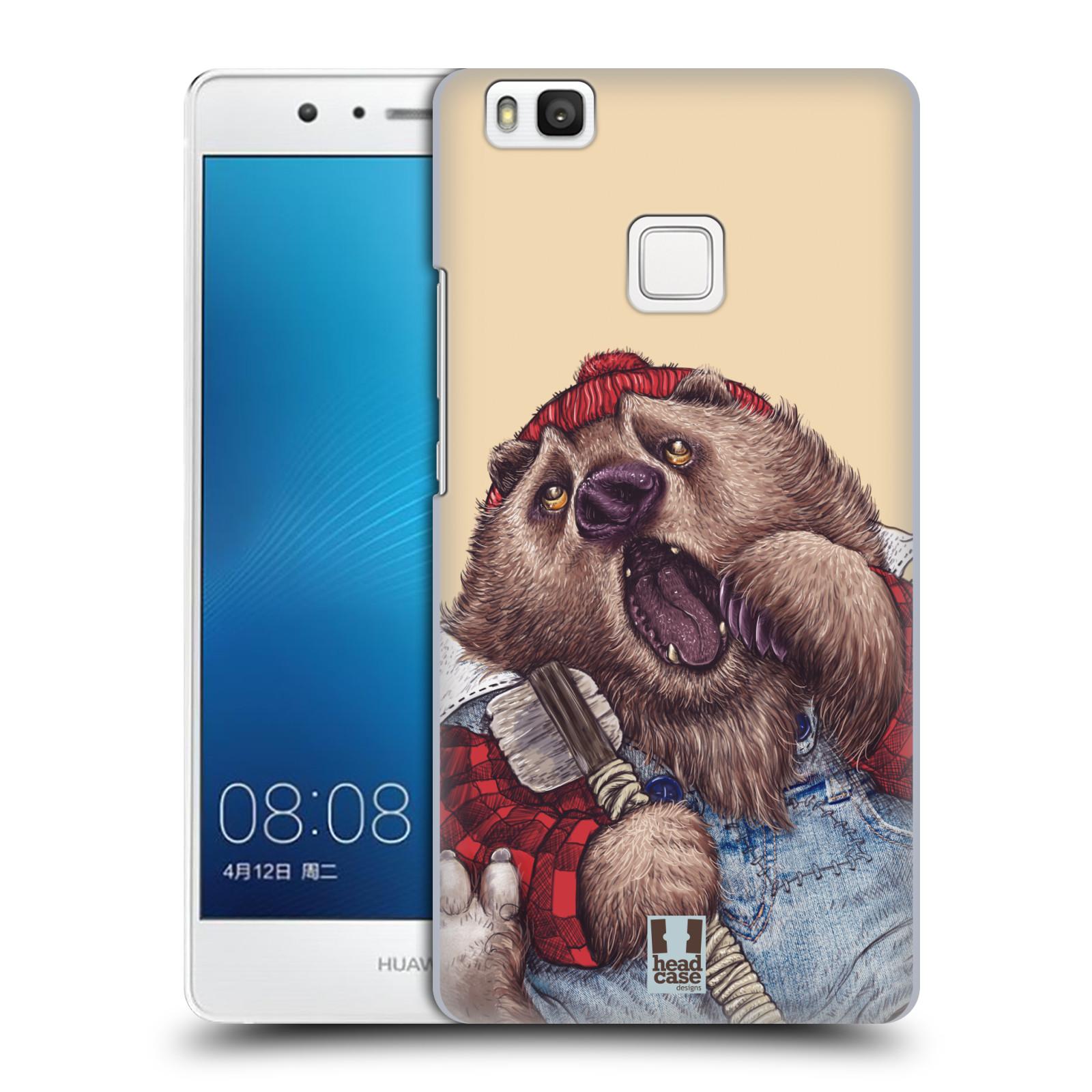 HEAD CASE plastový obal na mobil Huawei P9 LITE / P9 LITE DUAL SIM vzor Kreslená zvířátka medvěd