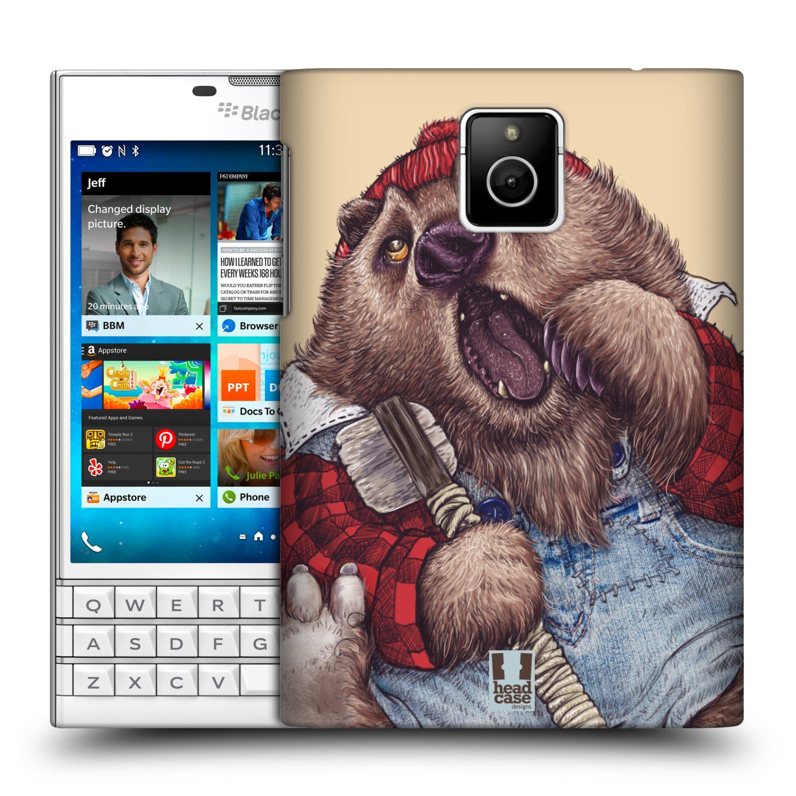HEAD CASE plastový obal na mobil BlackBerry Passport vzor Kreslená zvířátka medvěd