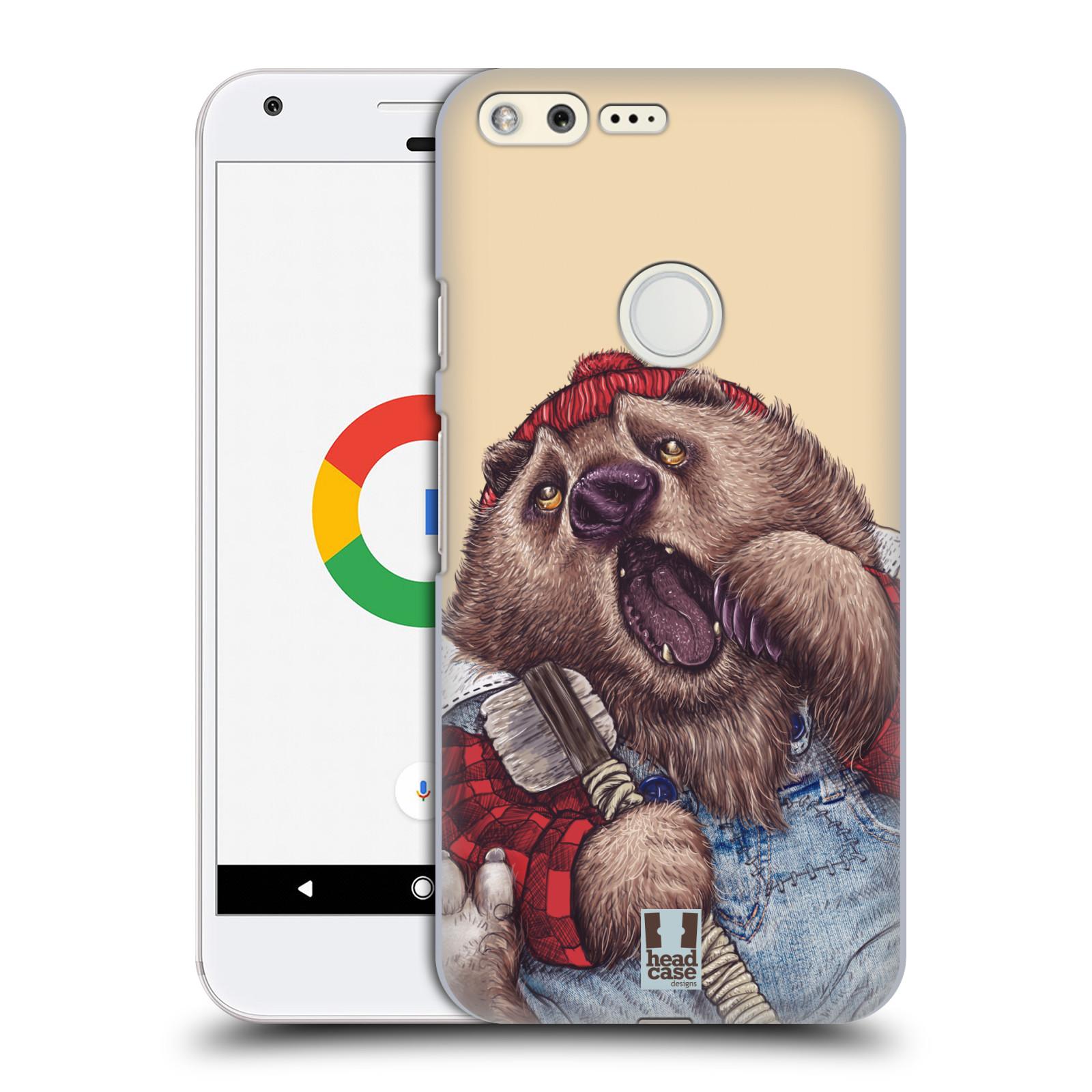 HEAD CASE plastový obal na mobil GOOGLE Pixel vzor Kreslená zvířátka medvěd