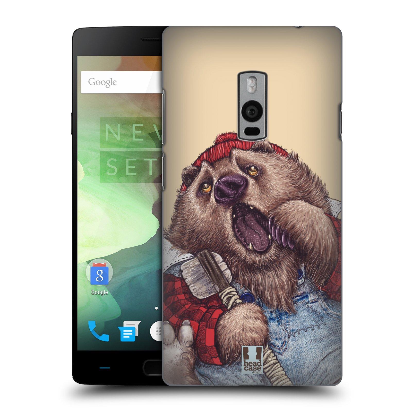 HEAD CASE pevný plastový obal na mobil OnePlus 2  ( TWO ) vzor Kreslená zvířátka medvěd