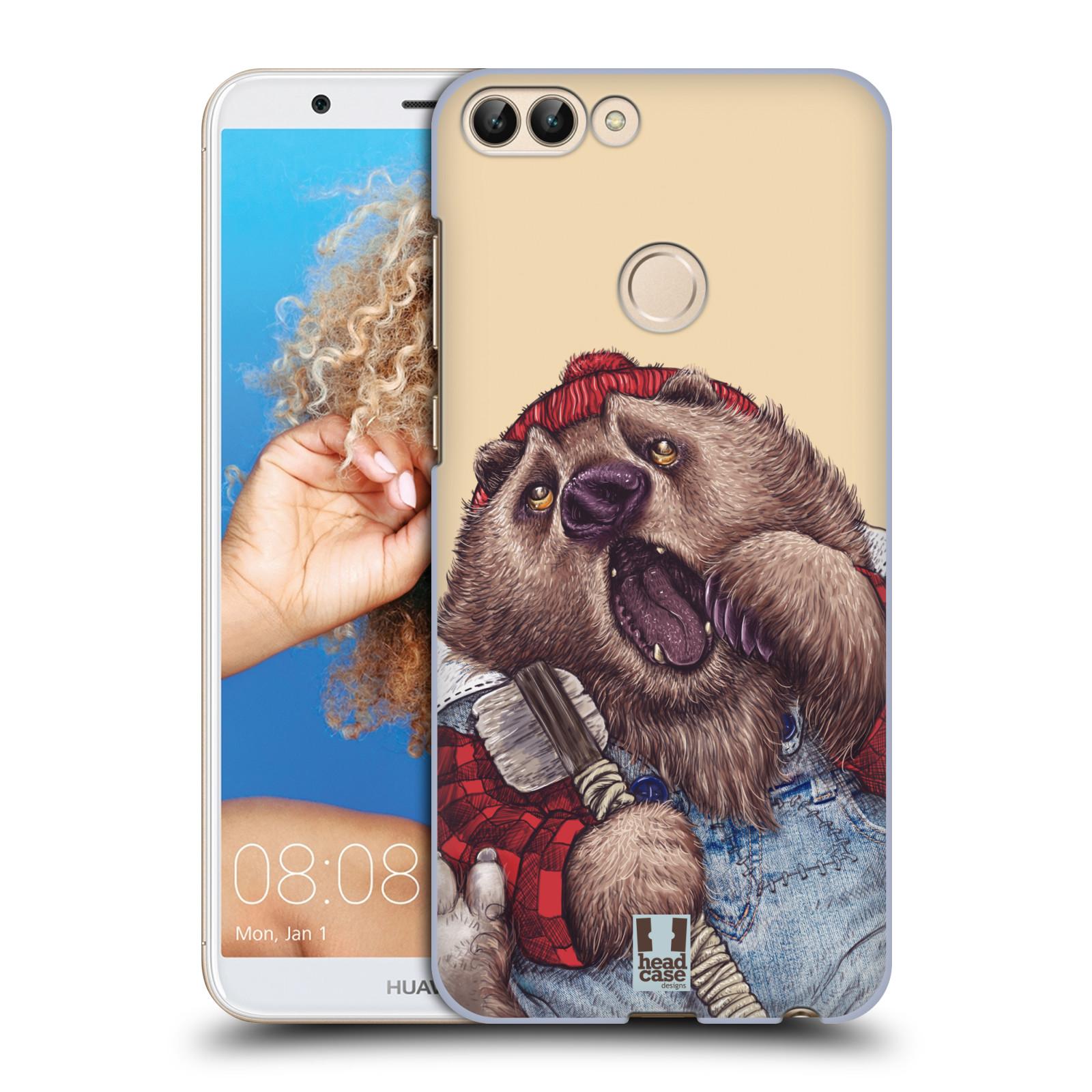 HEAD CASE plastový obal na mobil Huawei P Smart vzor Kreslená zvířátka medvěd