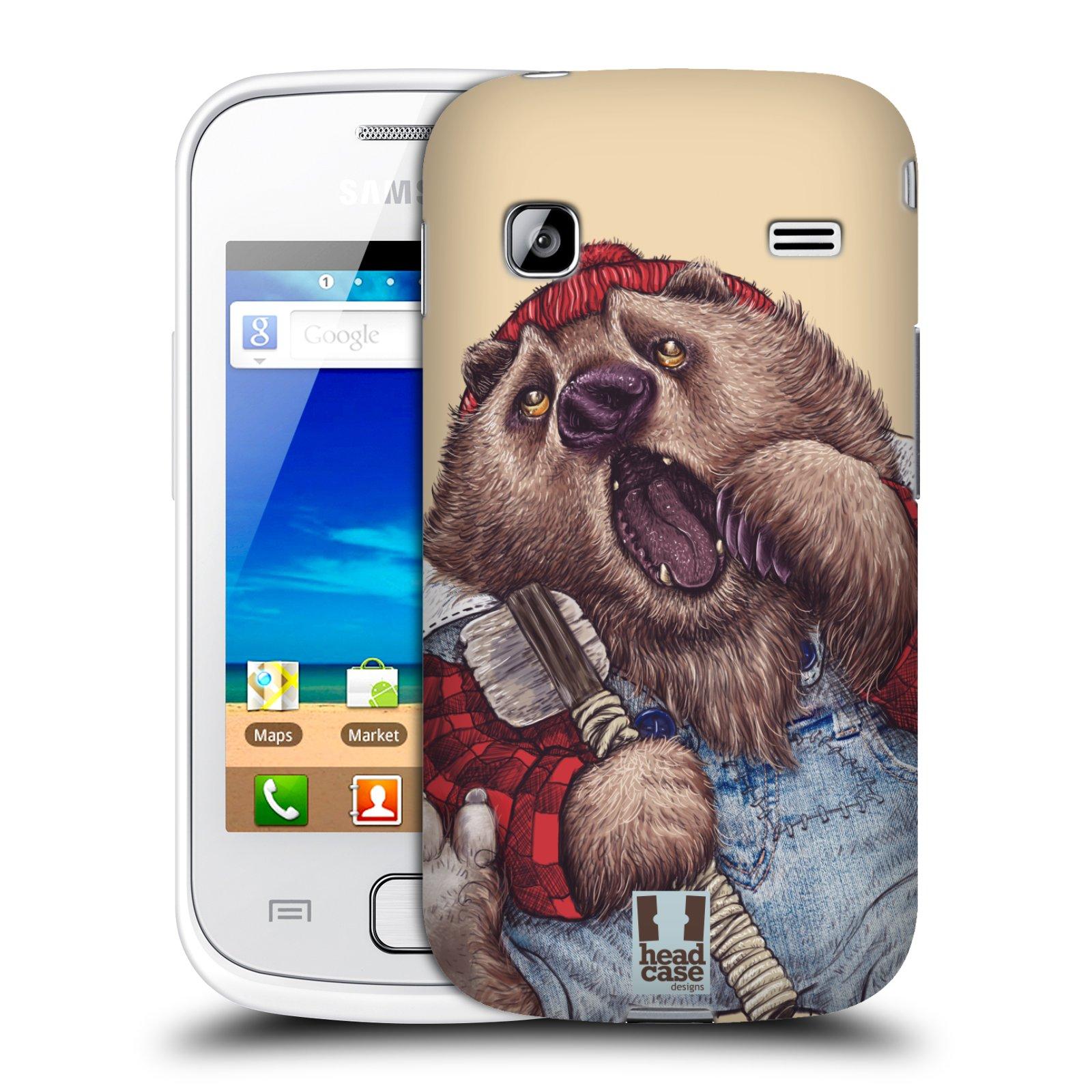 HEAD CASE plastový obal na mobil SAMSUNG GALAXY GIO (S5660) vzor Kreslená zvířátka medvěd