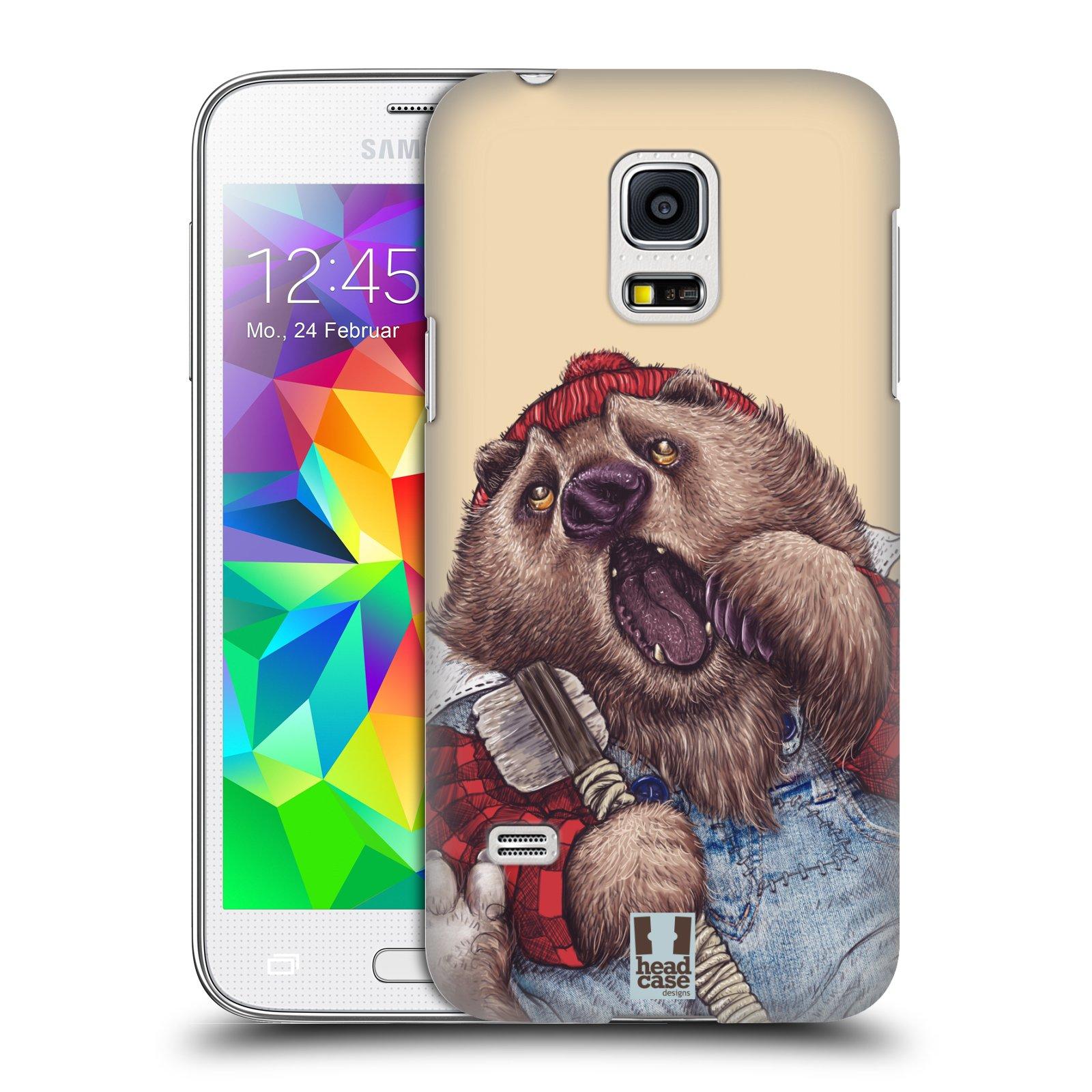 HEAD CASE plastový obal na mobil SAMSUNG Galaxy S5 MINI / S5 MINI DUOS vzor Kreslená zvířátka medvěd
