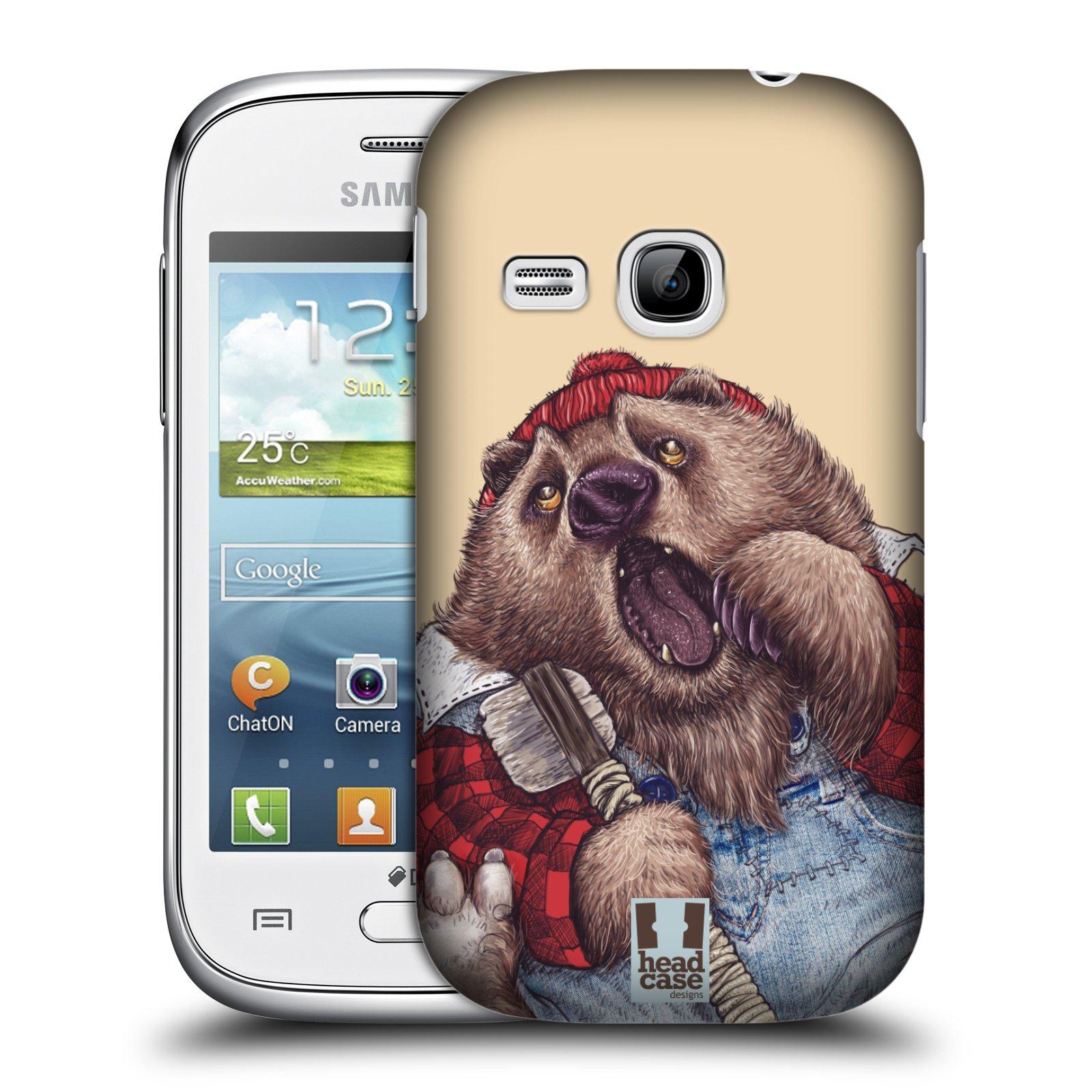 HEAD CASE plastový obal na mobil SAMSUNG Galaxy Young S6310 vzor Kreslená zvířátka medvěd