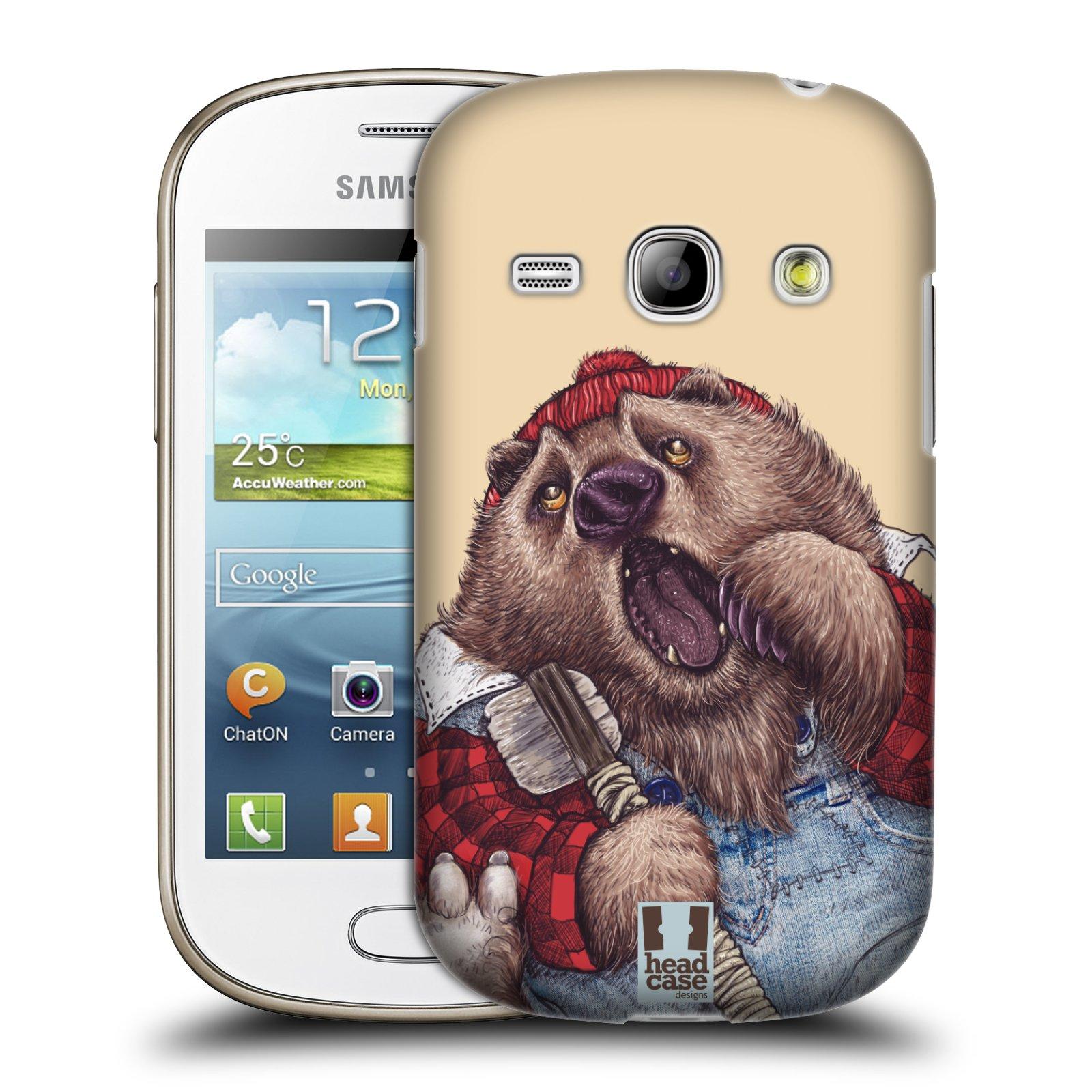 HEAD CASE plastový obal na mobil SAMSUNG GALAXY FAME (S6810) vzor Kreslená zvířátka medvěd