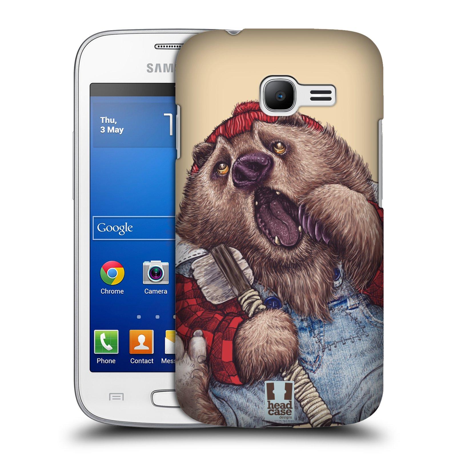 HEAD CASE plastový obal na mobil SAMSUNG GALAXY Star Pro S7260/S7262 DUOS vzor Kreslená zvířátka medvěd