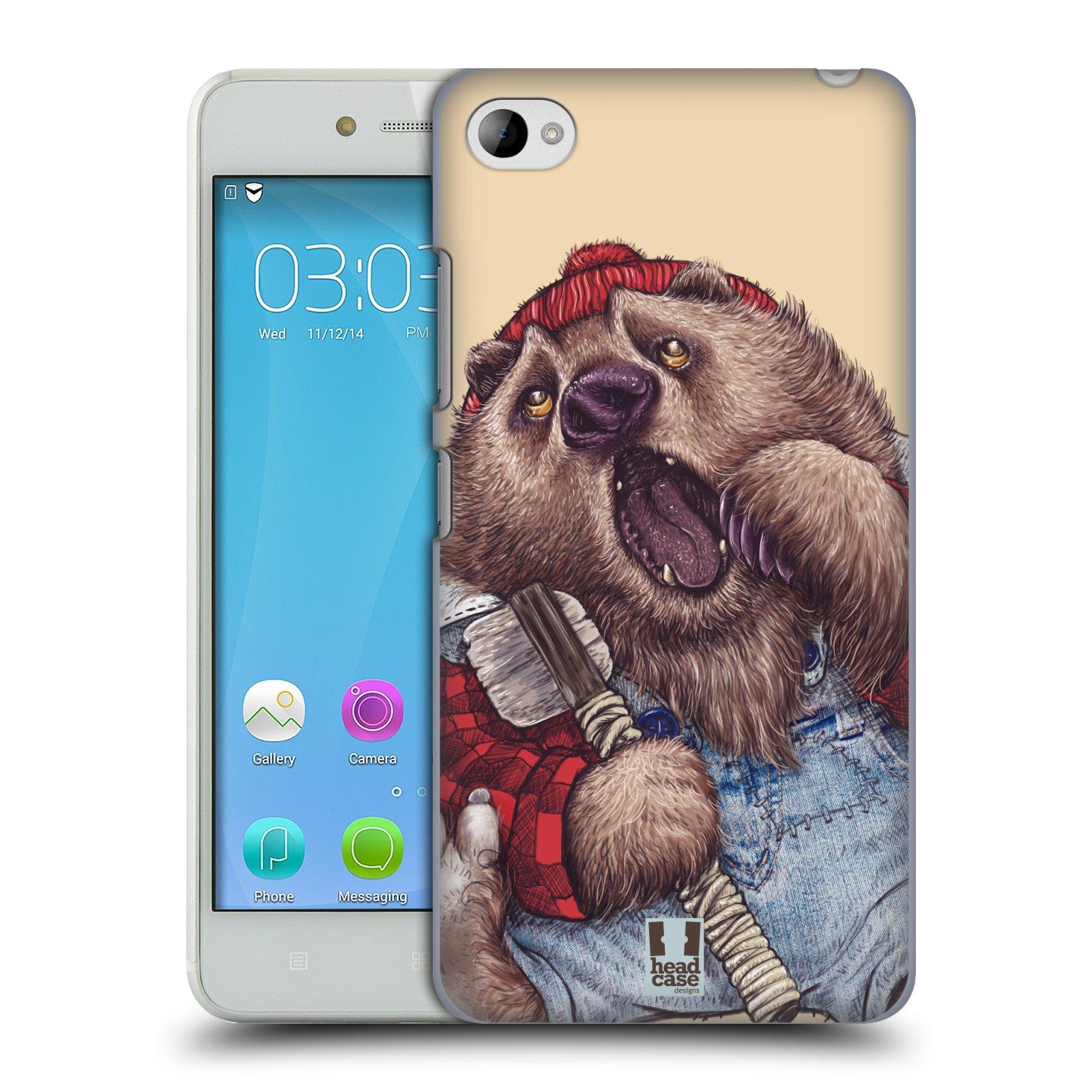 HEAD CASE pevný plastový obal na mobil LENOVO S90 vzor Kreslená zvířátka medvěd