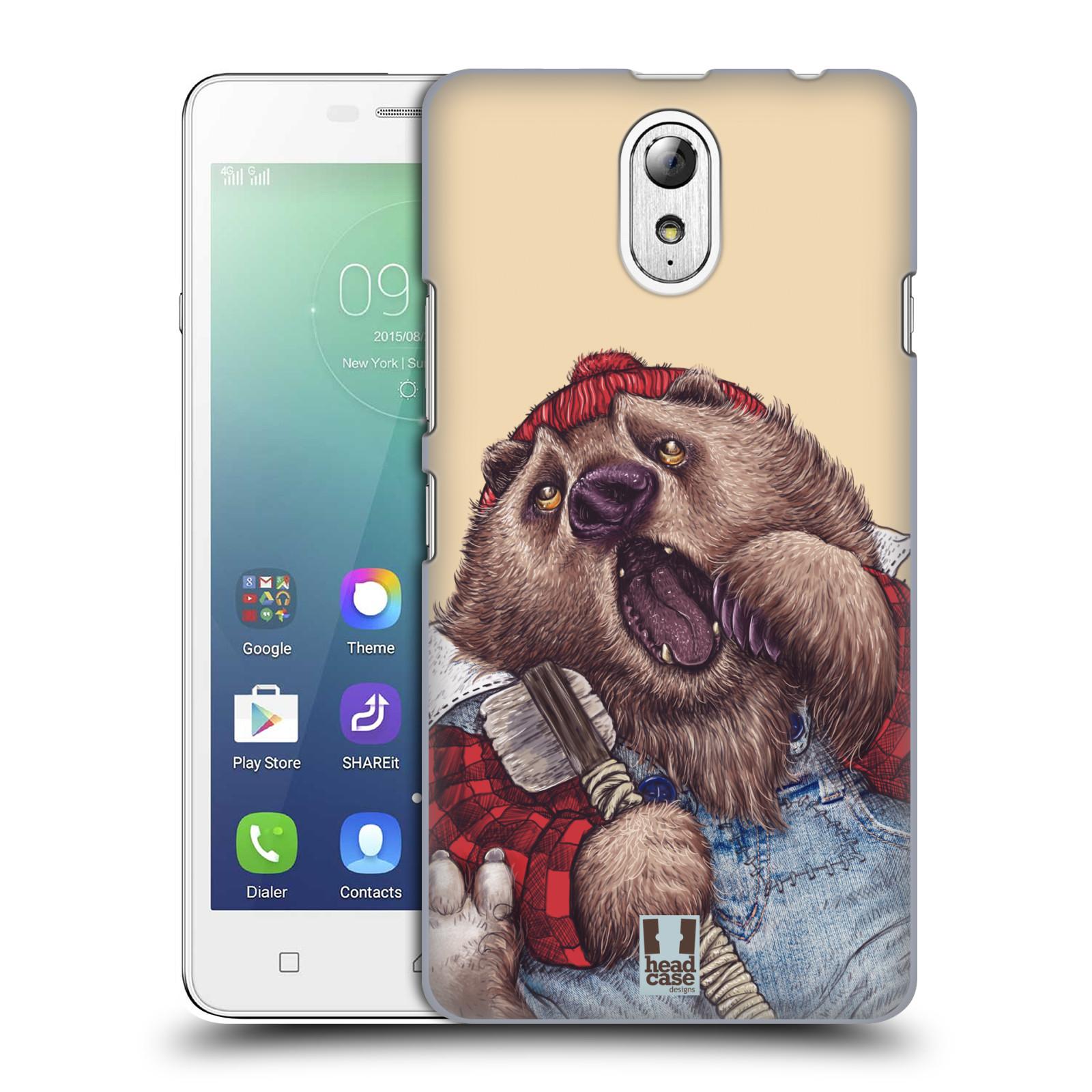 HEAD CASE pevný plastový obal na mobil LENOVO VIBE P1m / LENOVO VIBE p1m DUAL SIM vzor Kreslená zvířátka medvěd