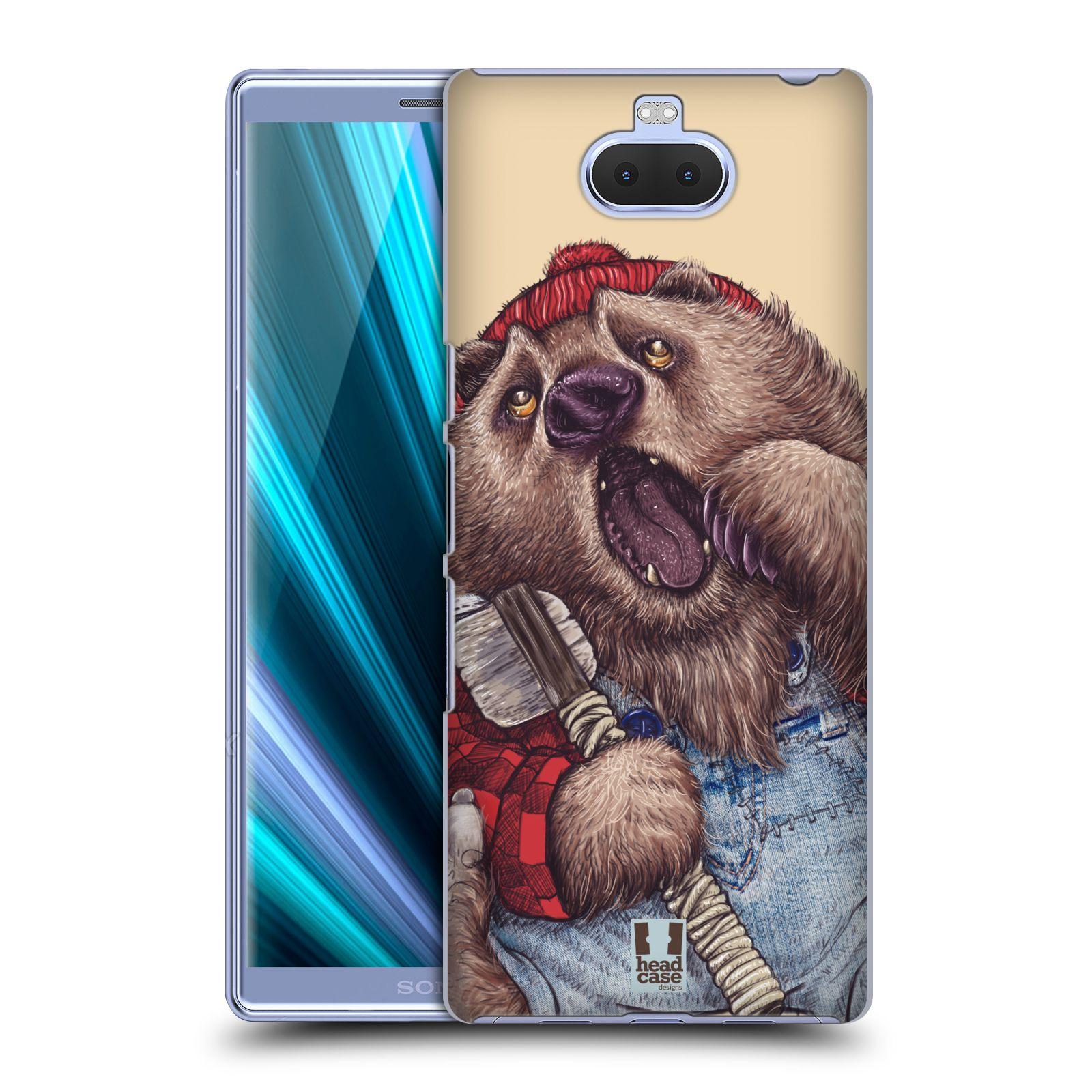Pouzdro na mobil Sony Xperia 10 - Head Case - vzor Kreslená zvířátka medvěd