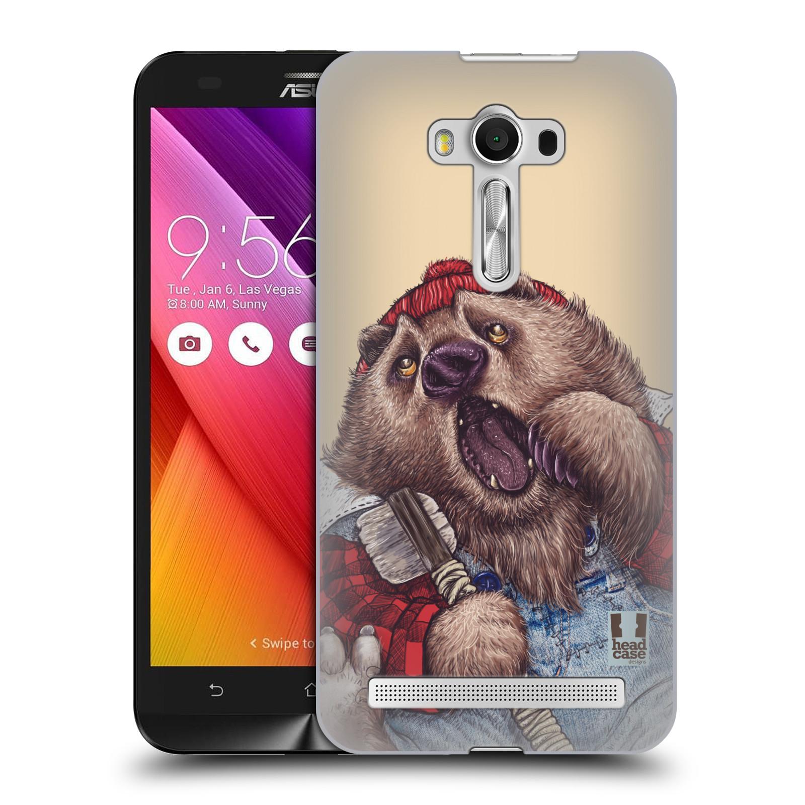 HEAD CASE plastový obal na mobil Asus Zenfone 2 LASER (5,5 displej ZE550KL) vzor Kreslená zvířátka medvěd
