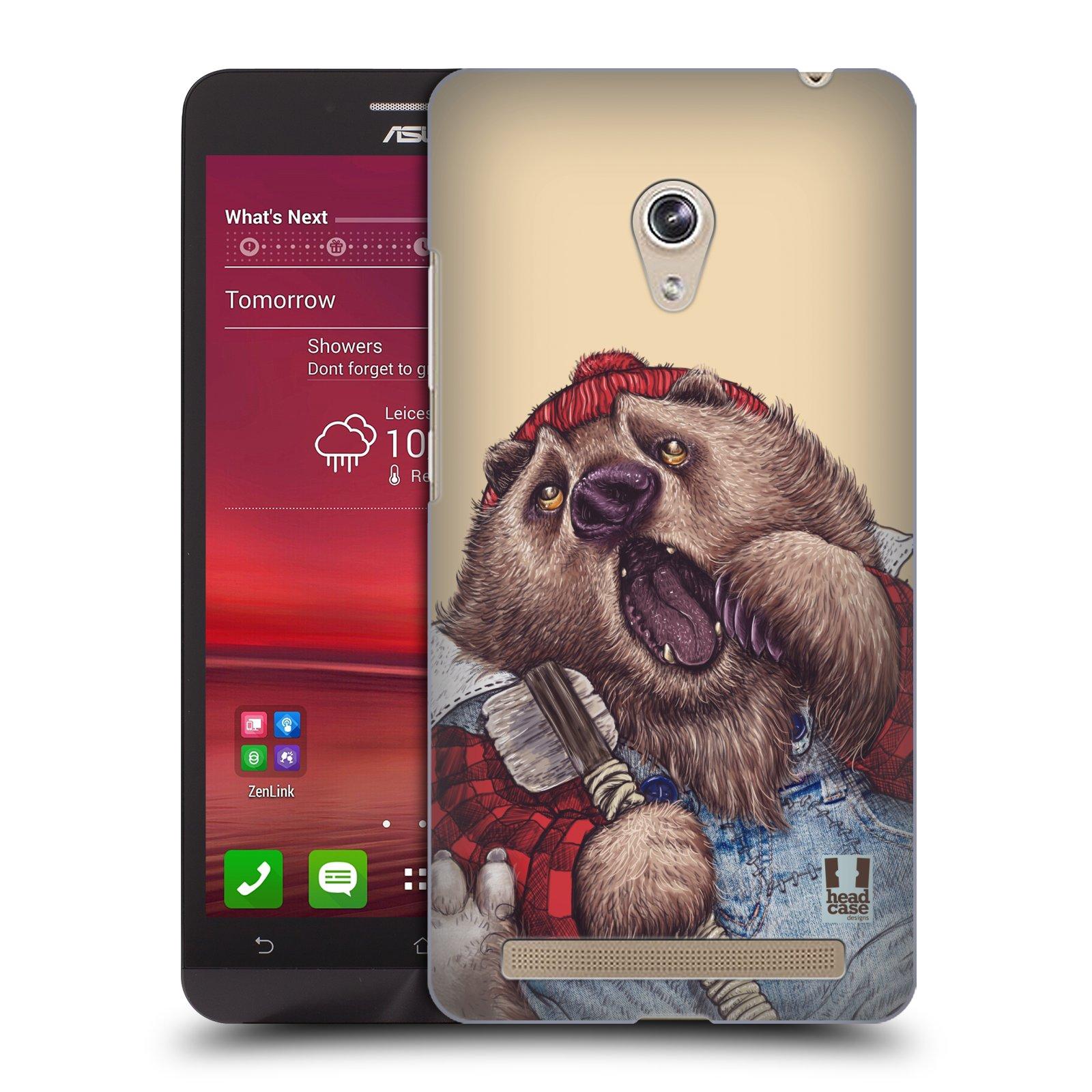 HEAD CASE plastový obal na mobil Asus Zenfone 6 vzor Kreslená zvířátka medvěd