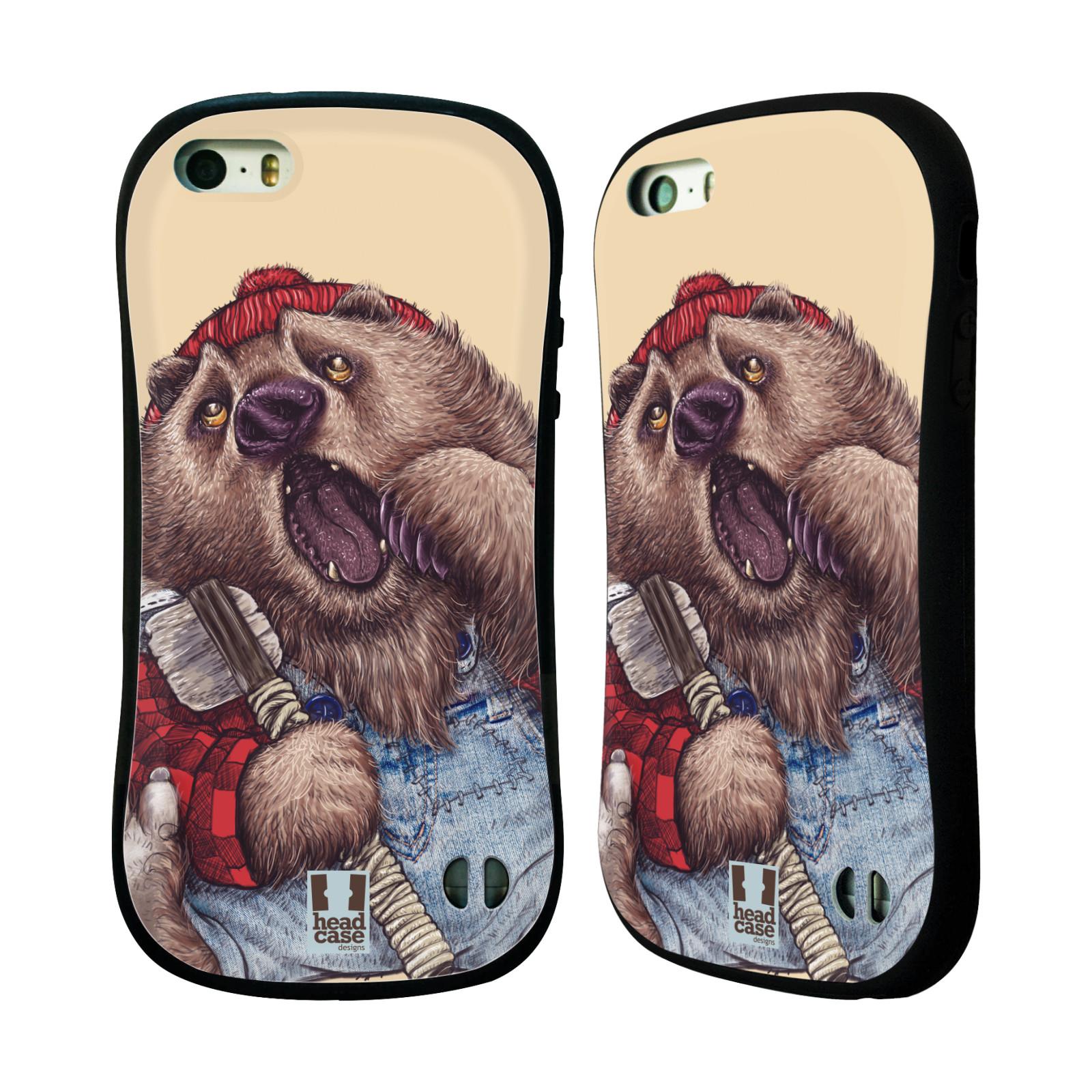 HEAD CASE silikon/plast odolný obal na mobil Apple Iphone 5/5S vzor Kreslená zvířátka medvěd