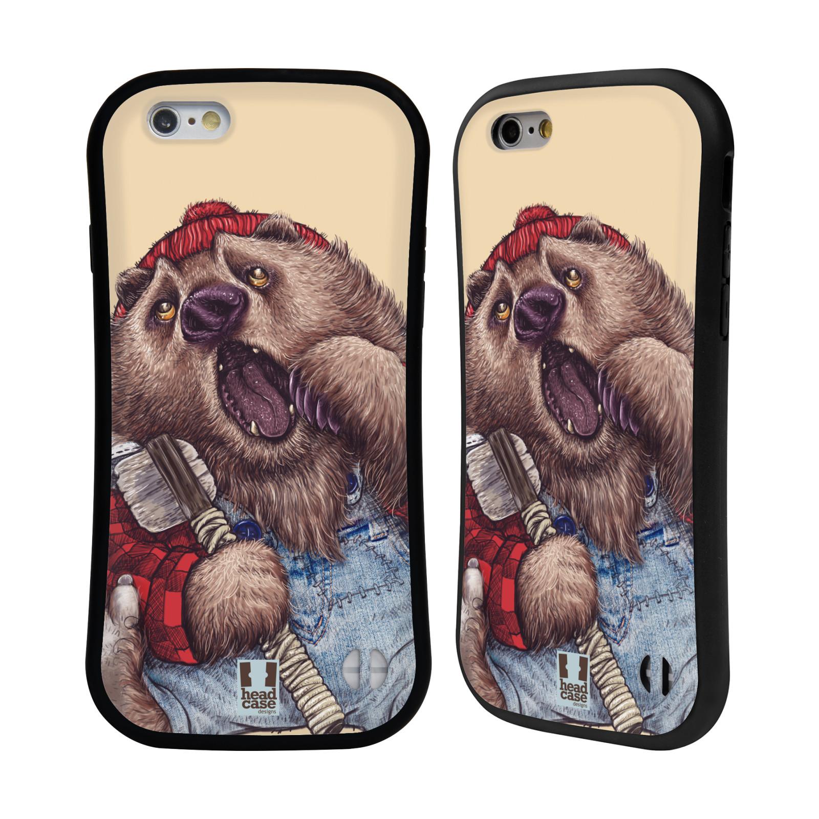 HEAD CASE silikon/plast odolný obal na mobil Apple Iphone 6/6S vzor Kreslená zvířátka medvěd