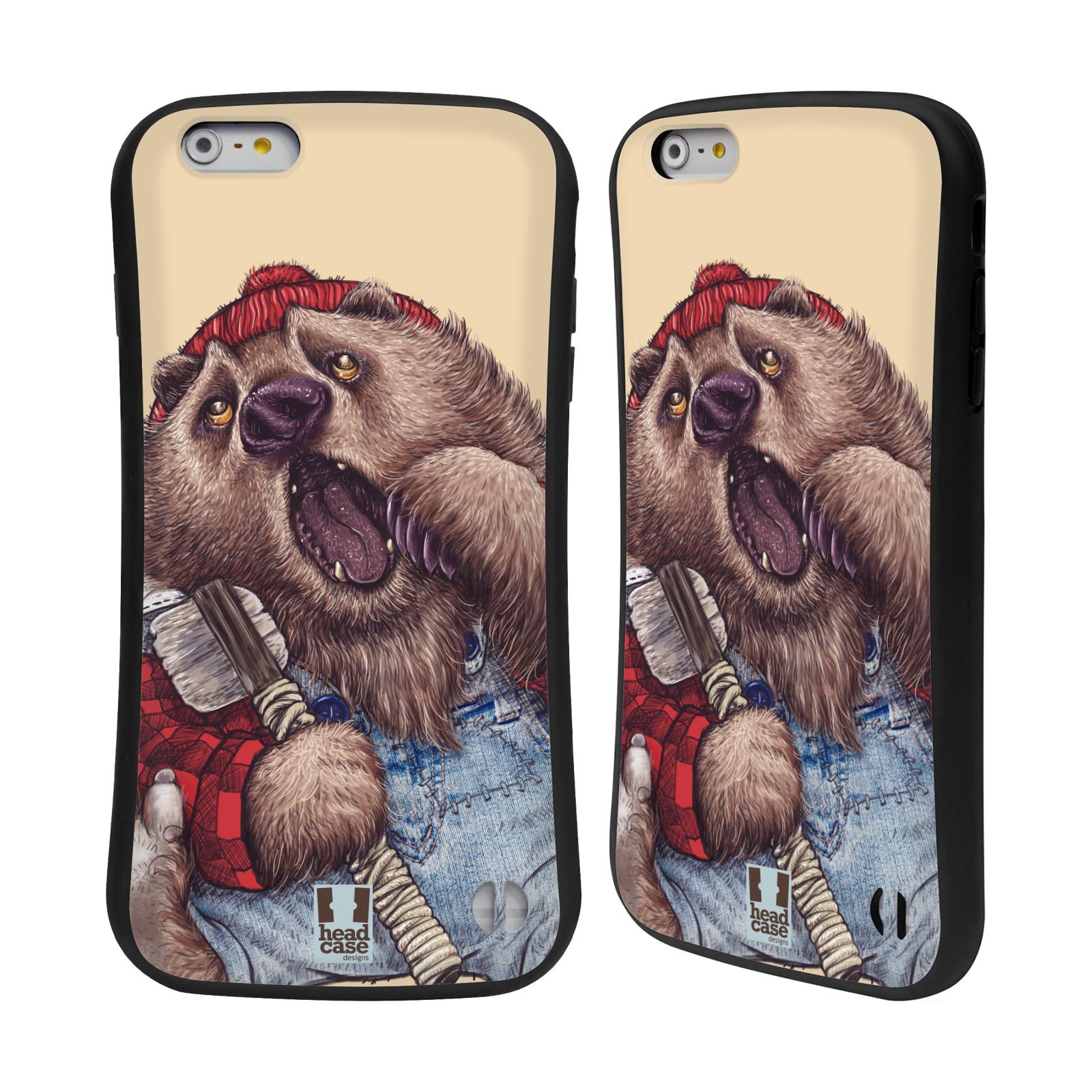 HEAD CASE silikon/plast odolný obal na mobil Apple Iphone 6 PLUS / 6S PLUS vzor Kreslená zvířátka medvěd