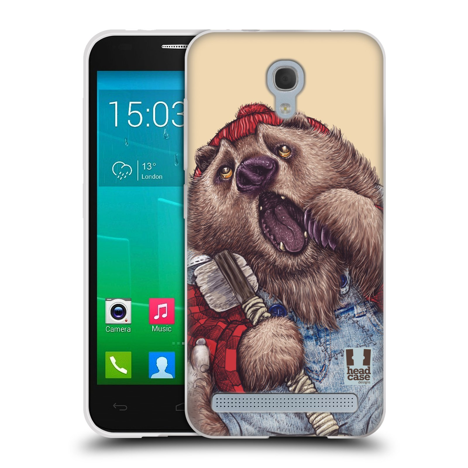 HEAD CASE silikonový obal na mobil Alcatel Idol 2 MINI S 6036Y vzor Kreslená zvířátka medvěd