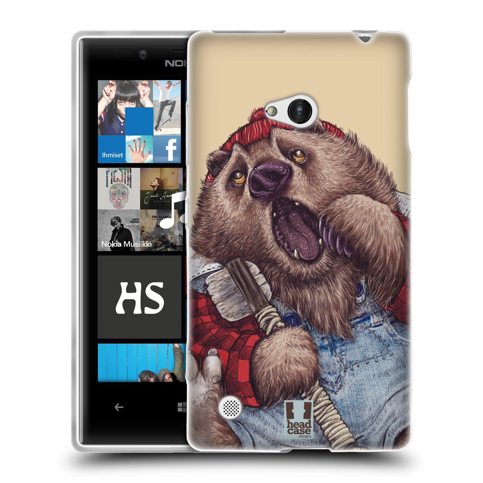 HEAD CASE silikonový obal na mobil NOKIA Lumia 720 vzor Kreslená zvířátka medvěd