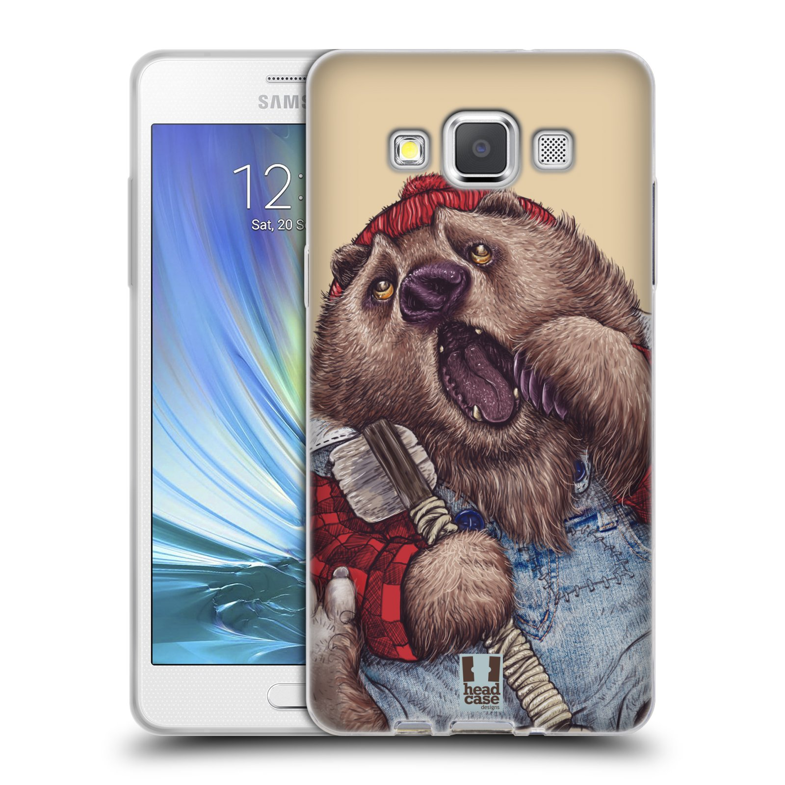 HEAD CASE silikonový obal na mobil Samsung Galaxy A5 vzor Kreslená zvířátka medvěd