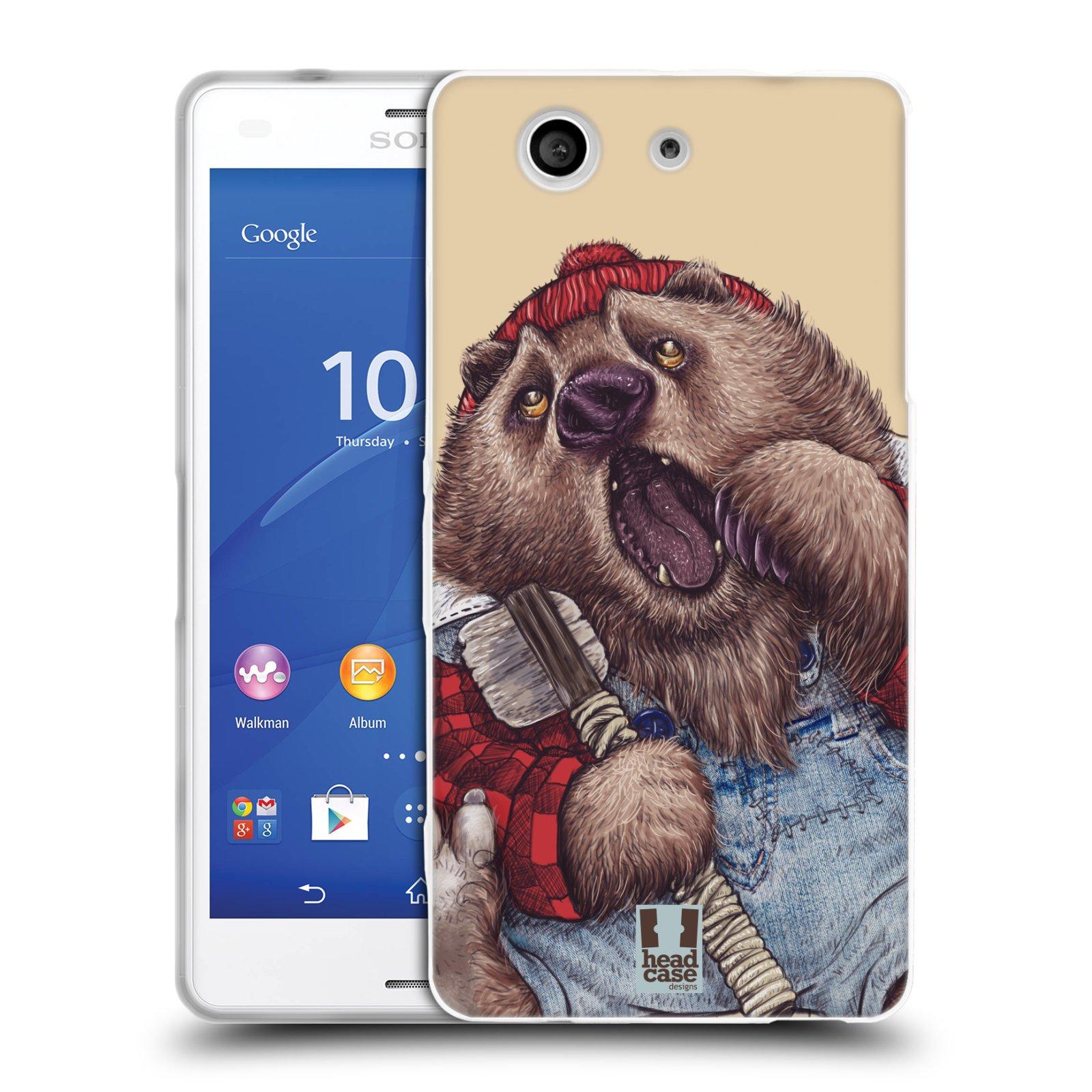 HEAD CASE silikonový obal na mobil Sony Xperia Z3 COMPACT (D5803) vzor Kreslená zvířátka medvěd