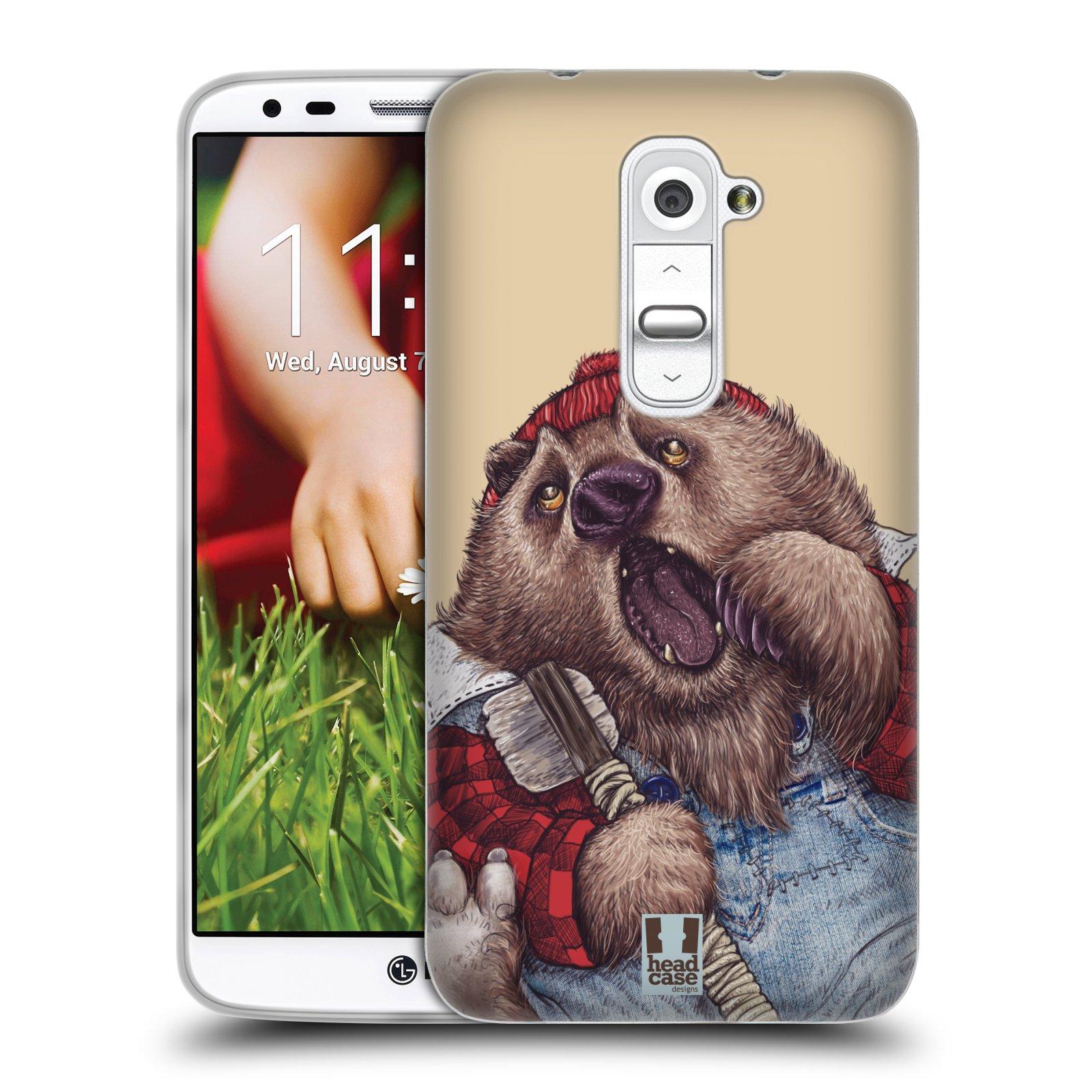 HEAD CASE silikonový obal na mobil LG G2 vzor Kreslená zvířátka medvěd