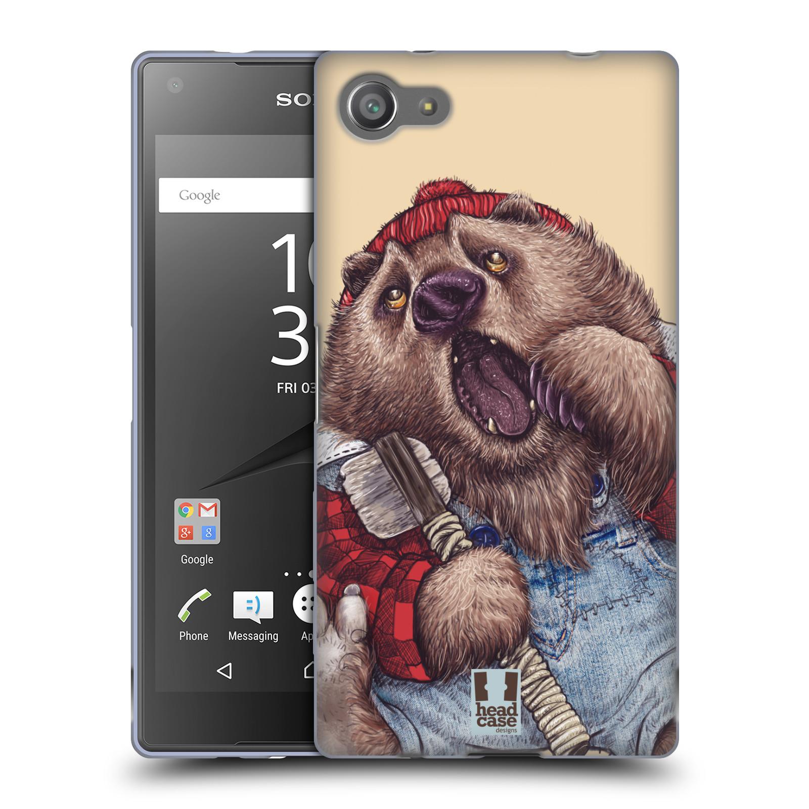 HEAD CASE silikonový obal na mobil Sony Xperia Z5 COMPACT vzor Kreslená zvířátka medvěd