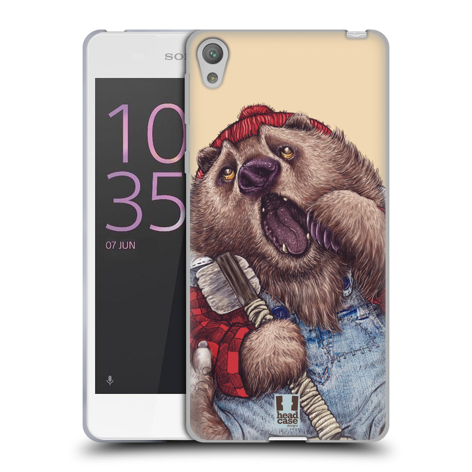 HEAD CASE silikonový obal na mobil SONY XPERIA E5 vzor Kreslená zvířátka medvěd