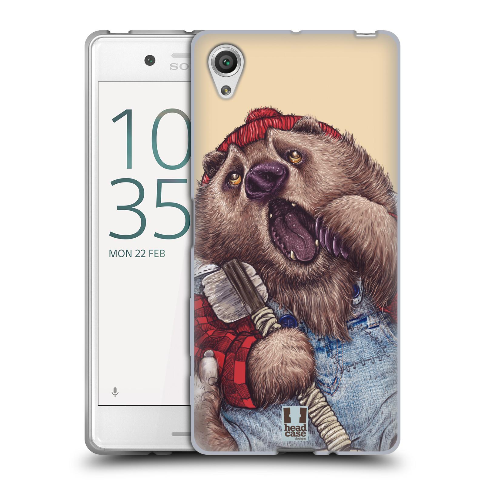 HEAD CASE silikonový obal na mobil Sony Xperia X / X DUAL vzor Kreslená zvířátka medvěd