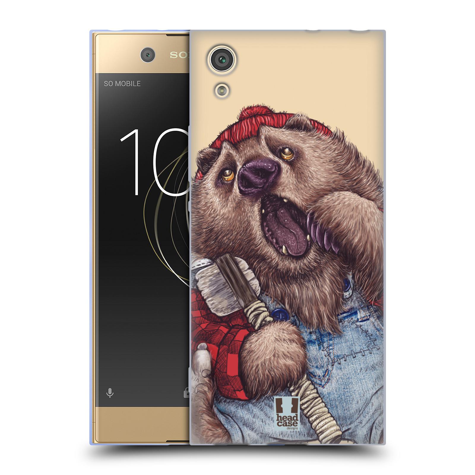 HEAD CASE silikonový obal na mobil Sony Xperia XA1 / XA1 DUAL SIM vzor Kreslená zvířátka medvěd