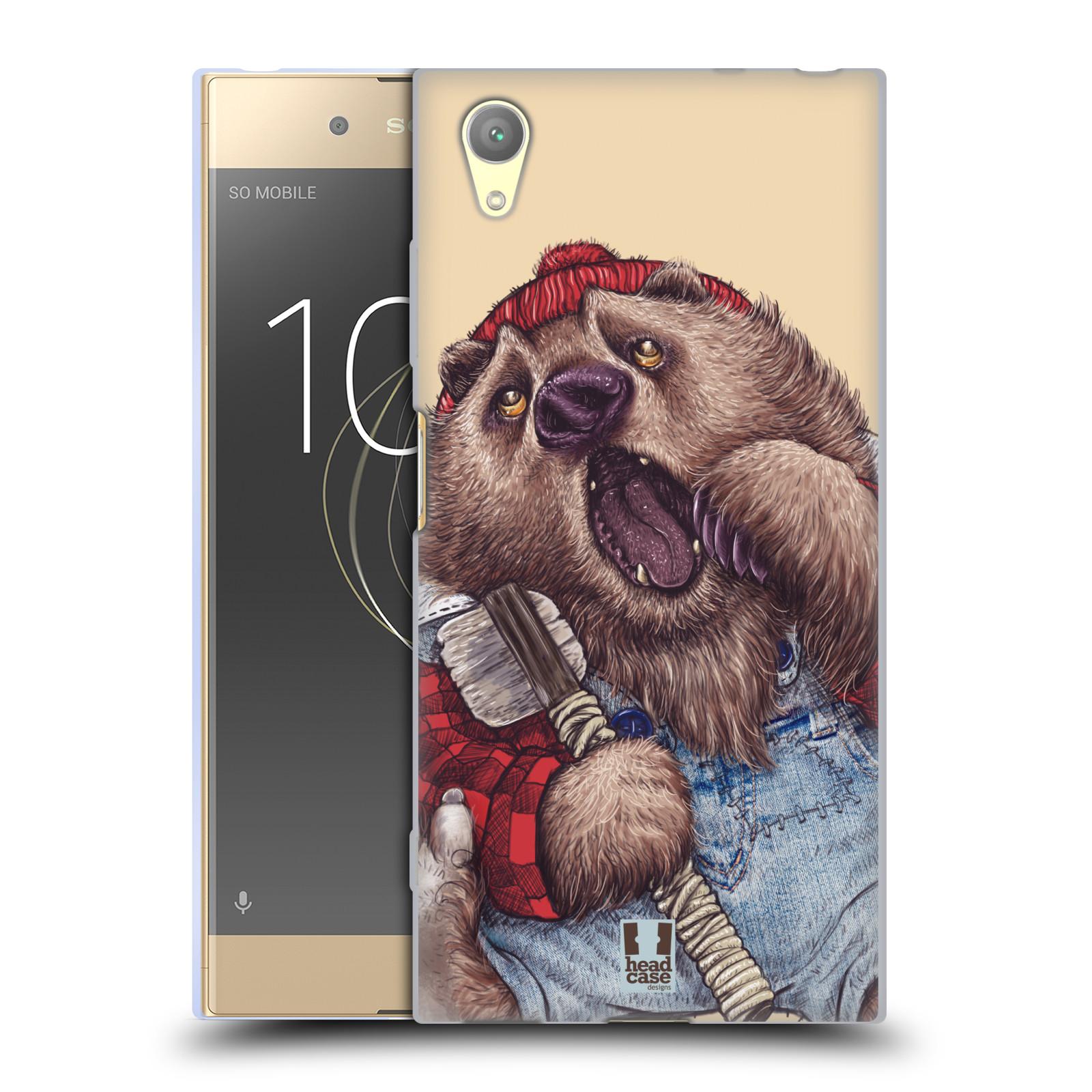 HEAD CASE silikonový obal na mobil Sony Xperia XA1 PLUS vzor Kreslená zvířátka medvěd