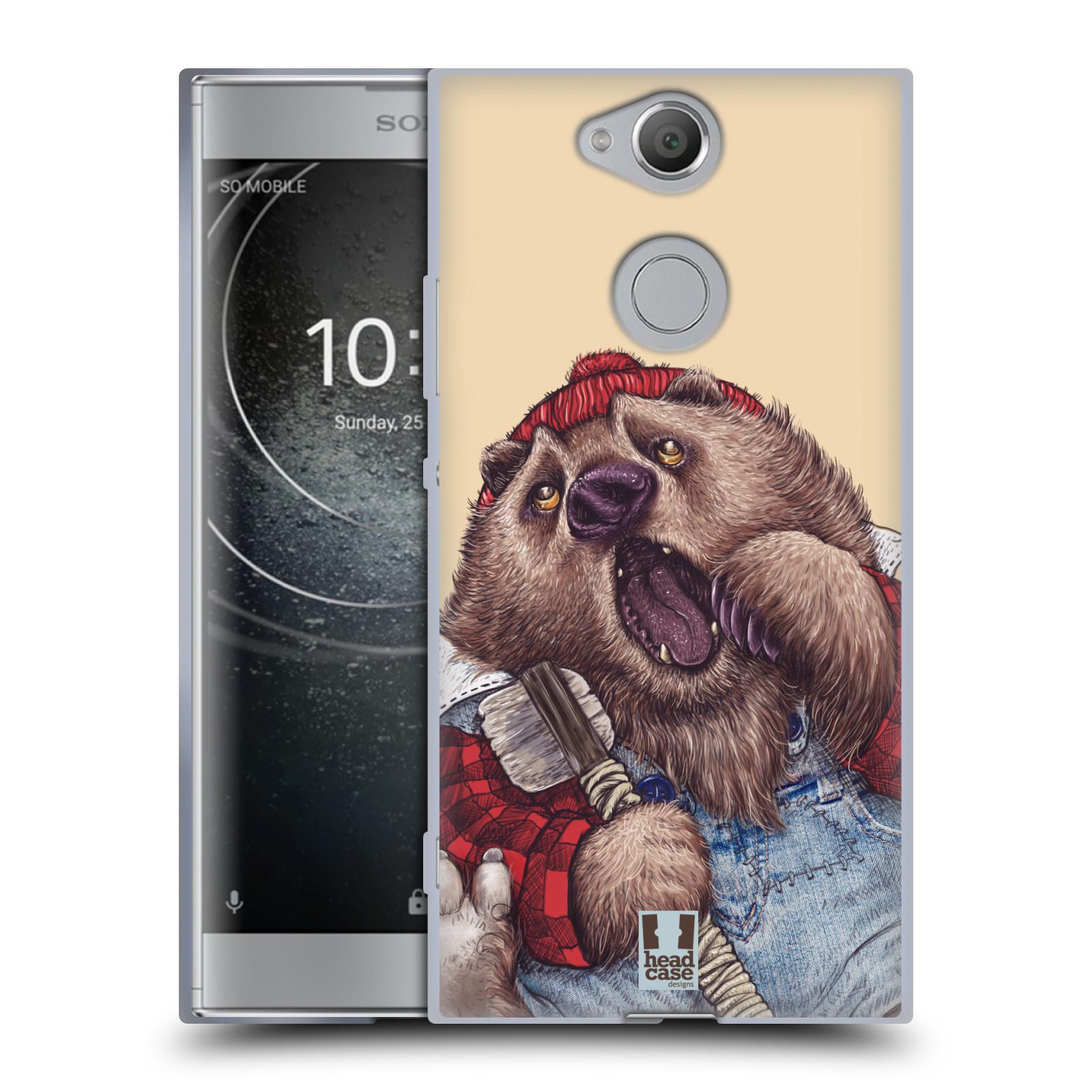 Pouzdro na mobil Sony Xperia XA2 (DUAL SIM, SINGLE SIM) vzor Kreslená zvířátka medvěd