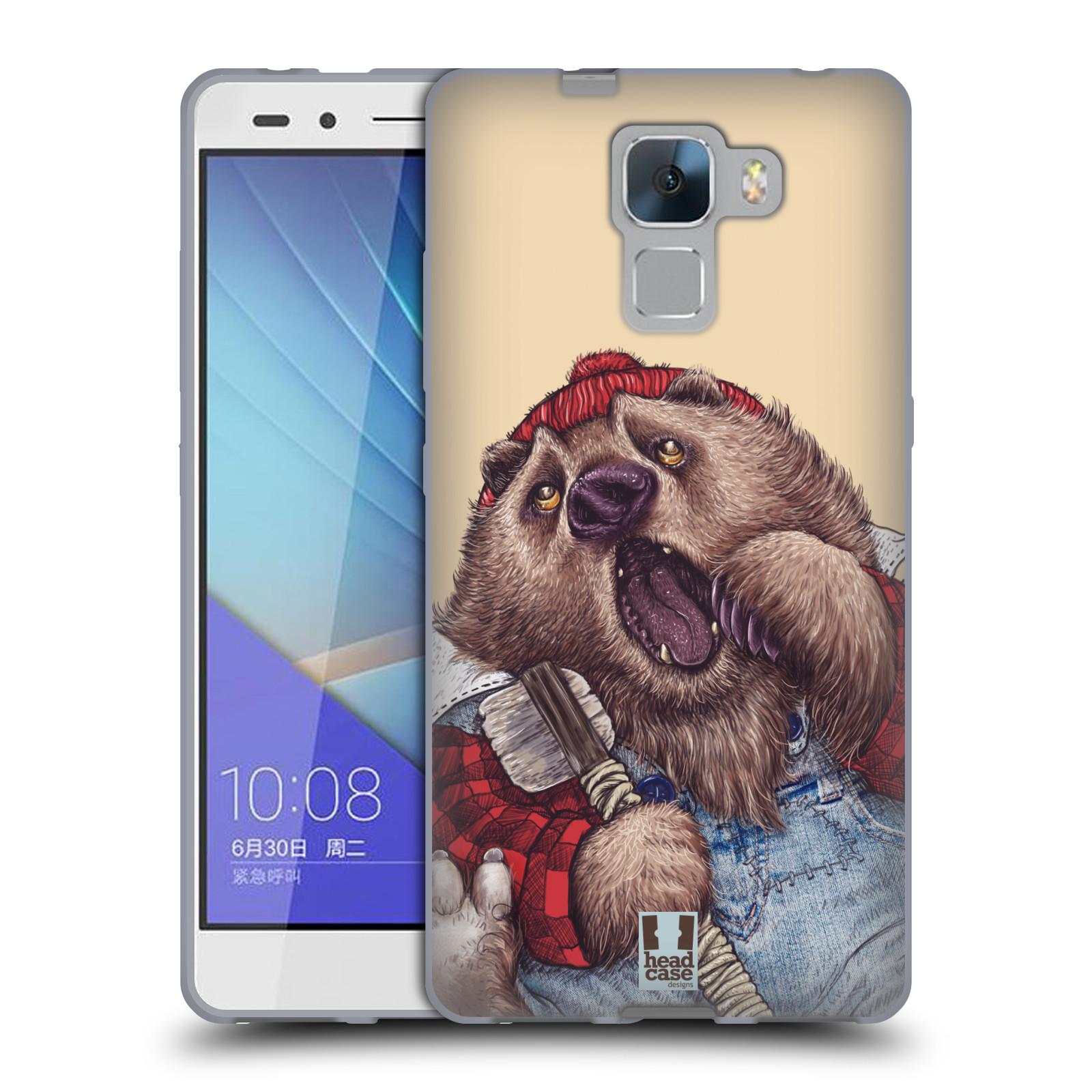 HEAD CASE silikonový obal na mobil HUAWEI HONOR 7 vzor Kreslená zvířátka medvěd